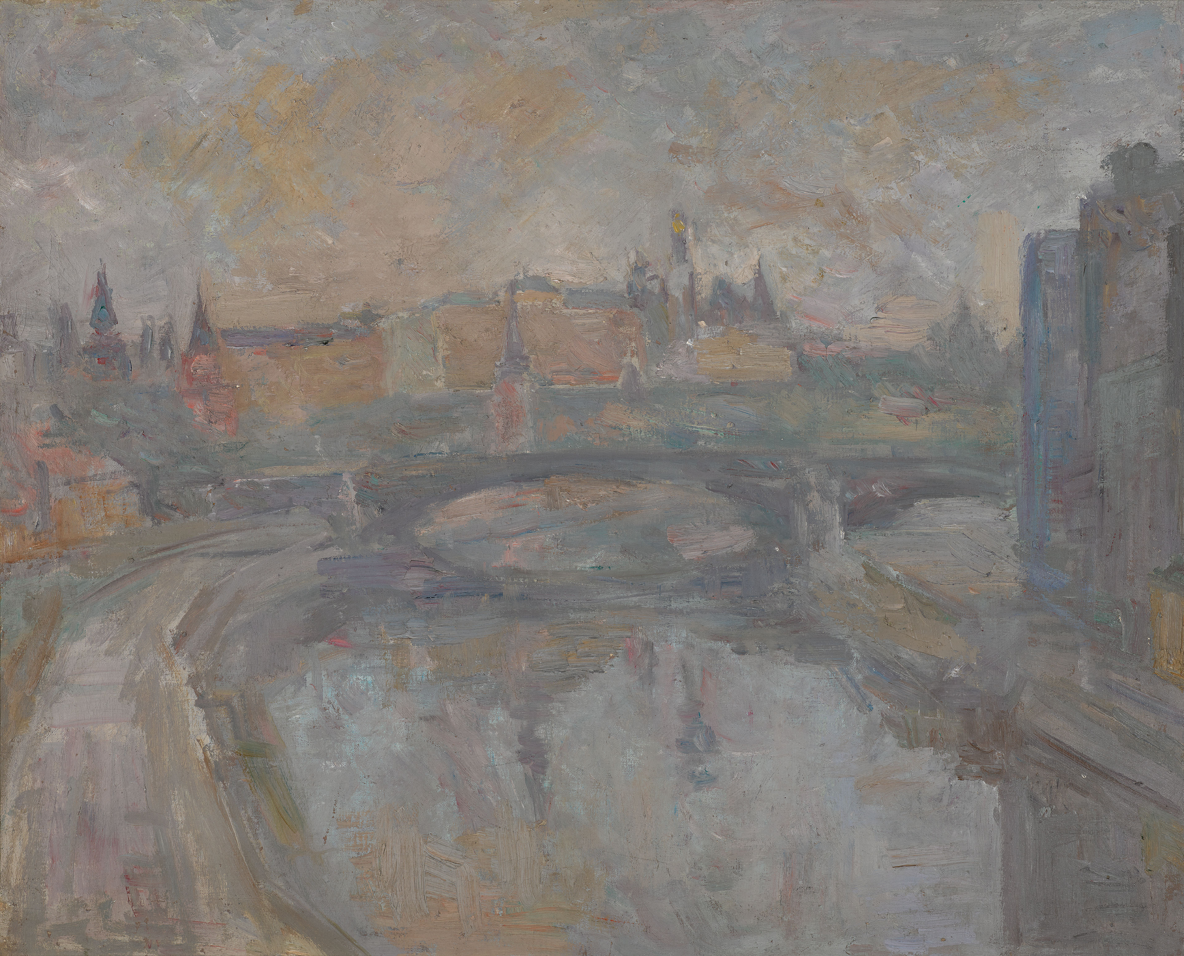View full screen - View 1 of Lot 79. ROBERT RAFAILOVICH FALK   The Kremlin on a Grey Day, View from the Artist's Studio.