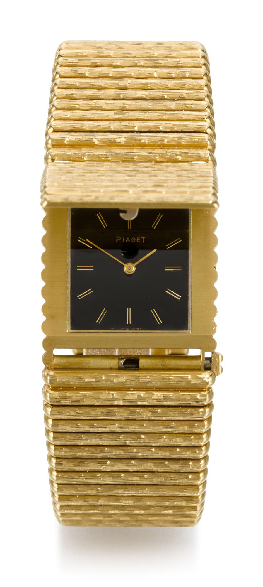 PIAGET | REFERENCE 9130 C 20 YELLOW GOLD BRACELET WATCH WITH CONCEALED DIAL, MADE IN 1973