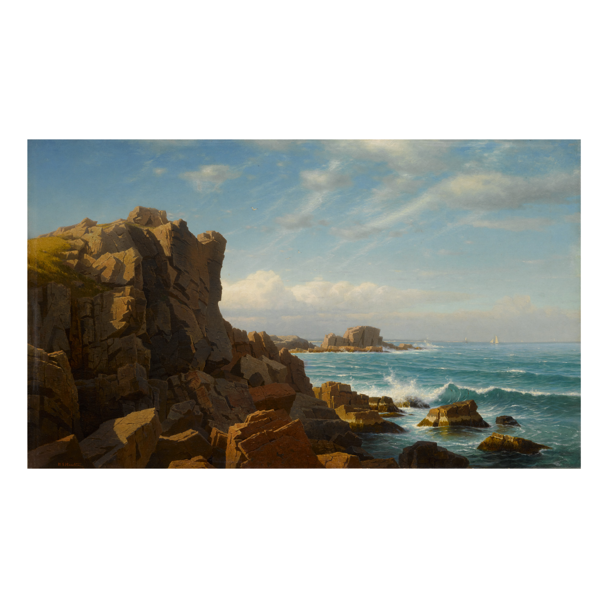 WILLIAM STANLEY HASELTINE | NAHANT ROCKS