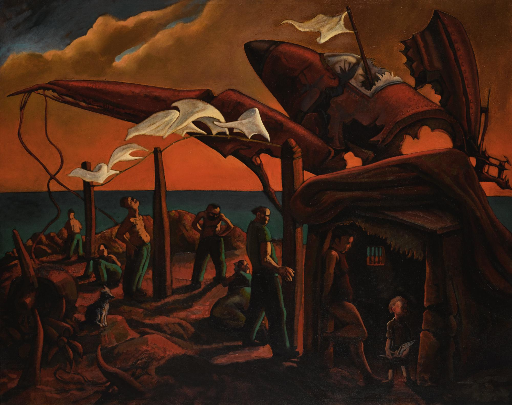 PETER HOWSON, O.B.E. | FLAG OF DESPAIR