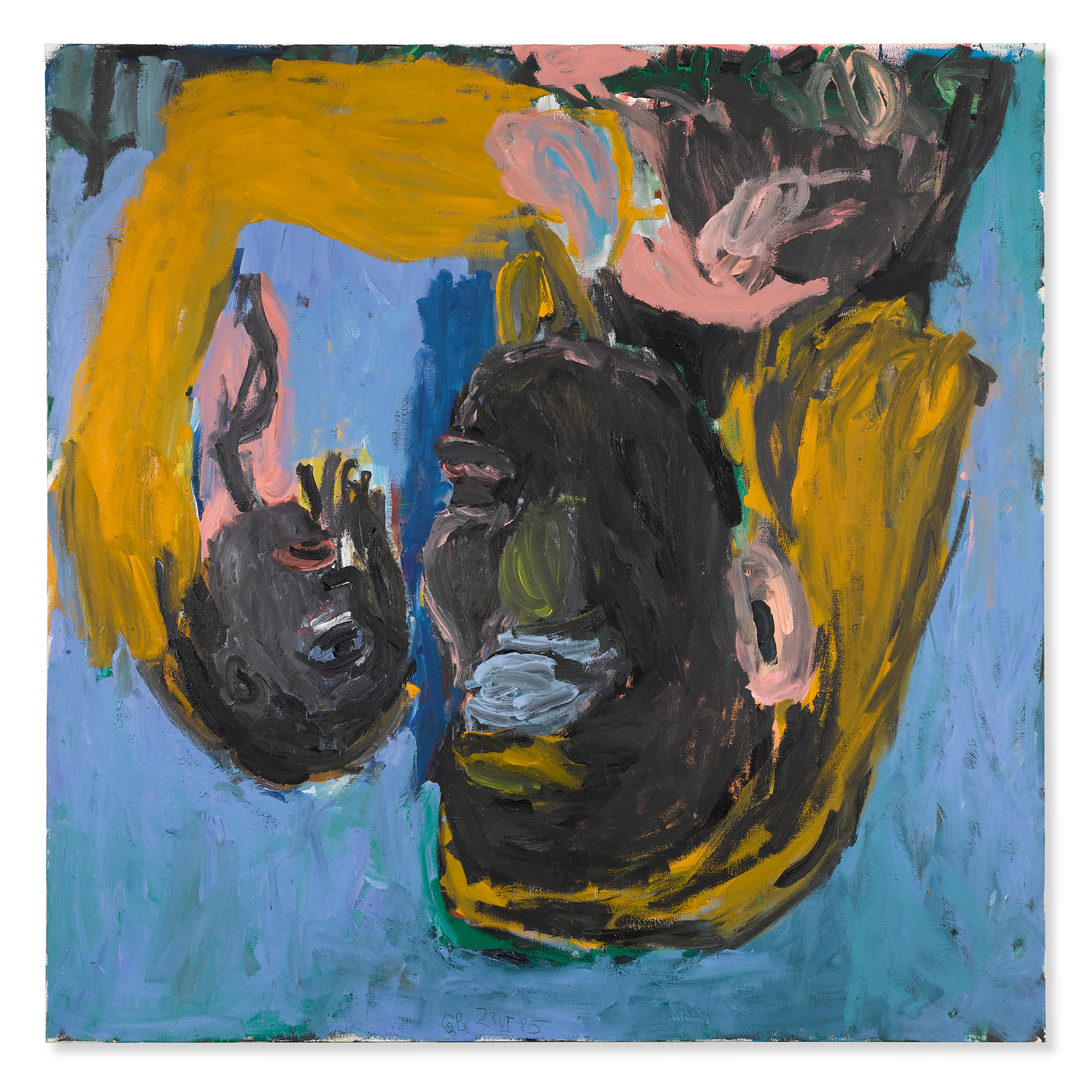 View full screen - View 1 of Lot 135.  GEORG BASELITZ | MUTTER UND KIND (MOTHER AND CHILD).