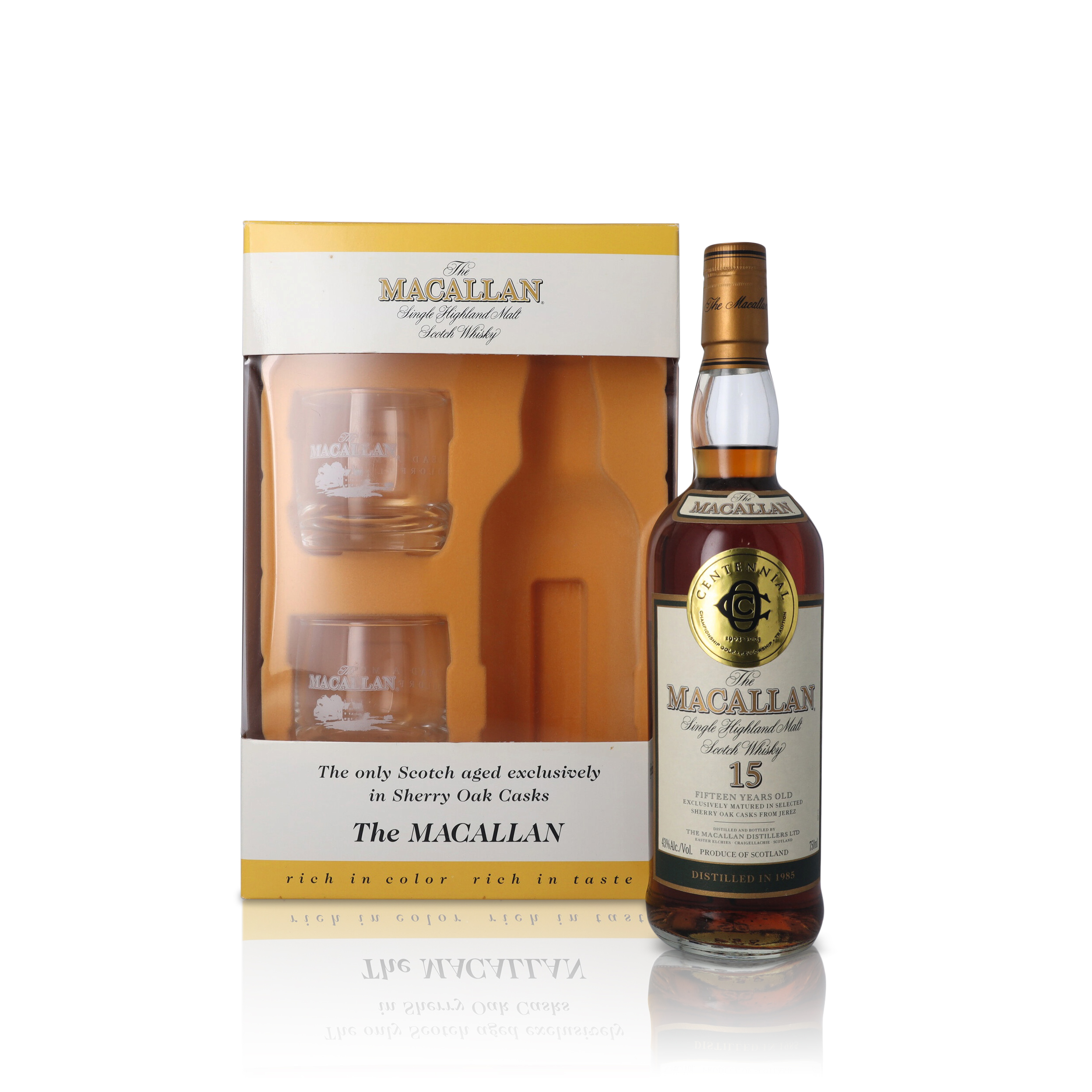 View full screen - View 1 of Lot 24. The Macallan 15 Year Old 43.0 abv 1985 (1 BT75).