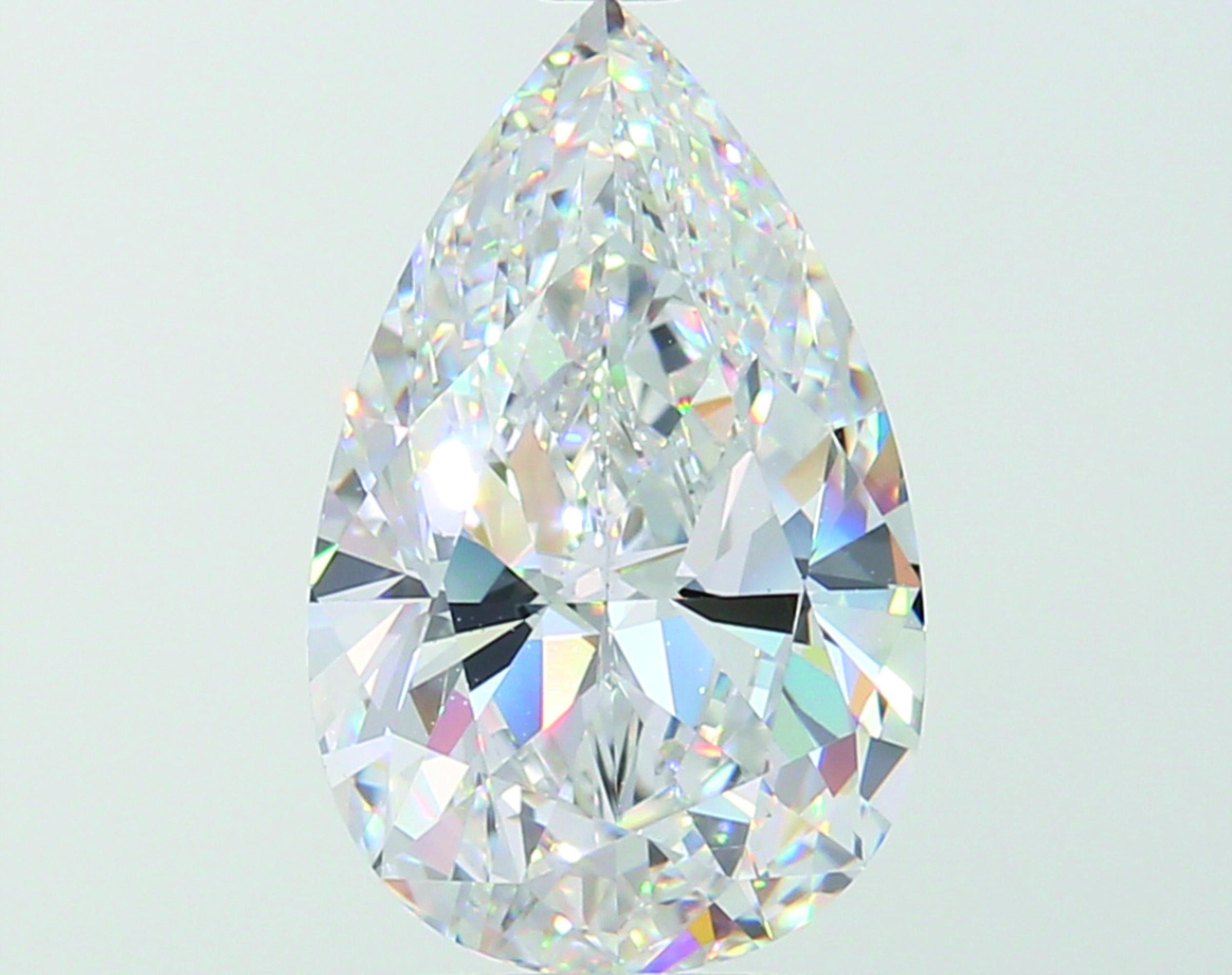 A 3.00 Carat Pear-Shaped Diamond, D Color, VS1 Clarity