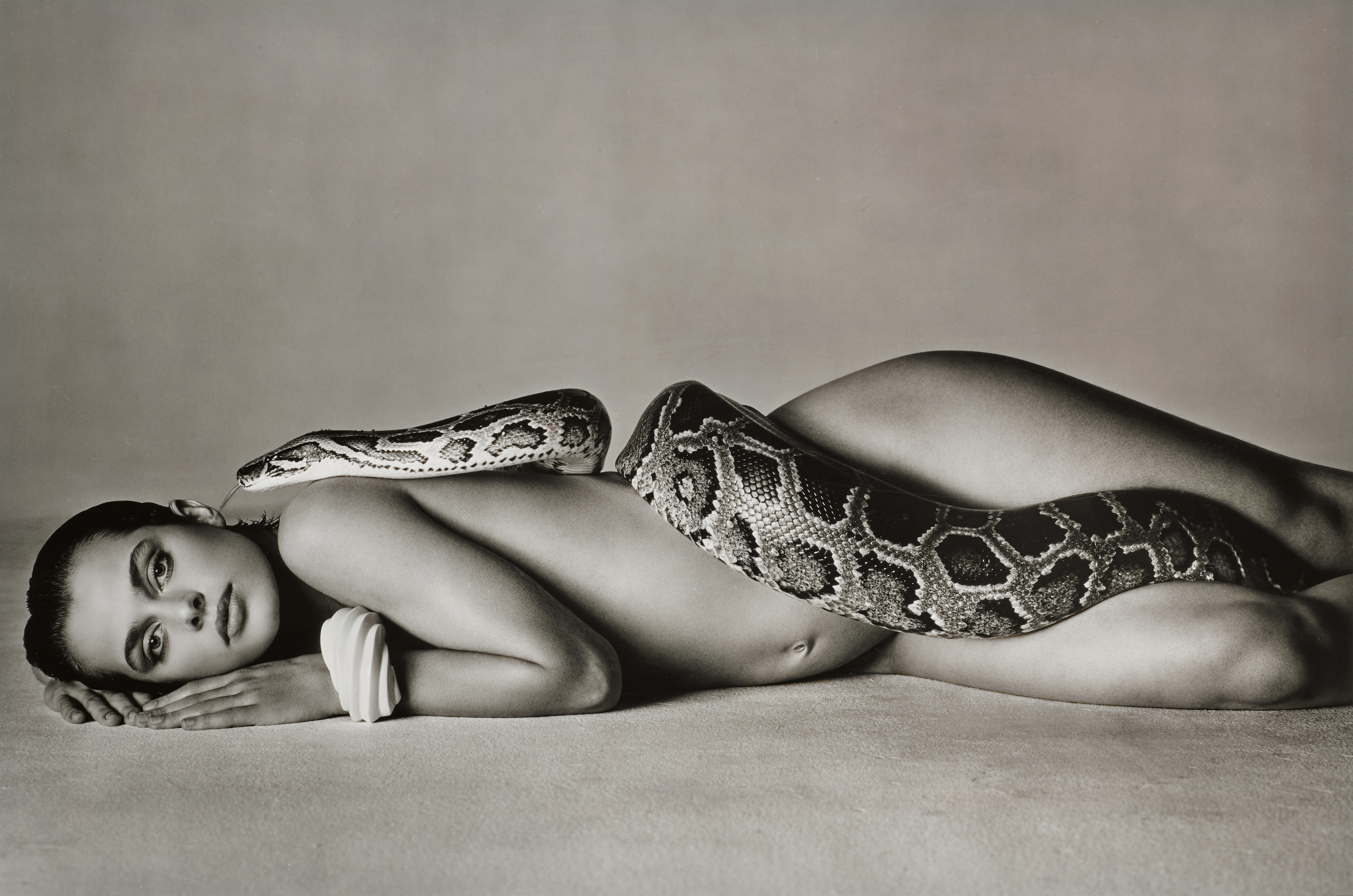 View full screen - View 1 of Lot 141. RICHARD AVEDON | 'NASTASSJA KINSKI AND THE SERPENT', LOS ANGELES, CALIFORNIA, 1981.