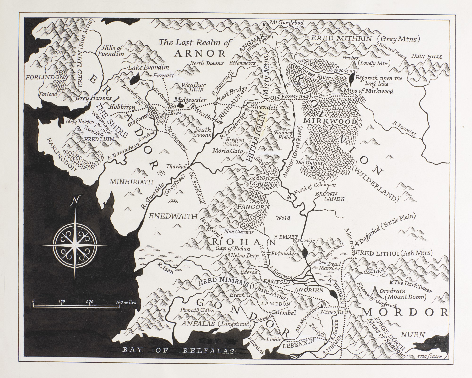 Fraser--[Tolkien], Map of Middle Earth, [1981] | English ...