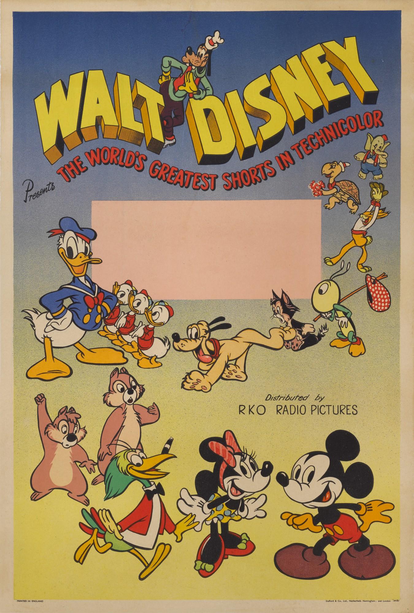 WALT DISNEY PRESENTS THE WORLD'S GREATEST SHORTS (1940) POSTER, BRITISH