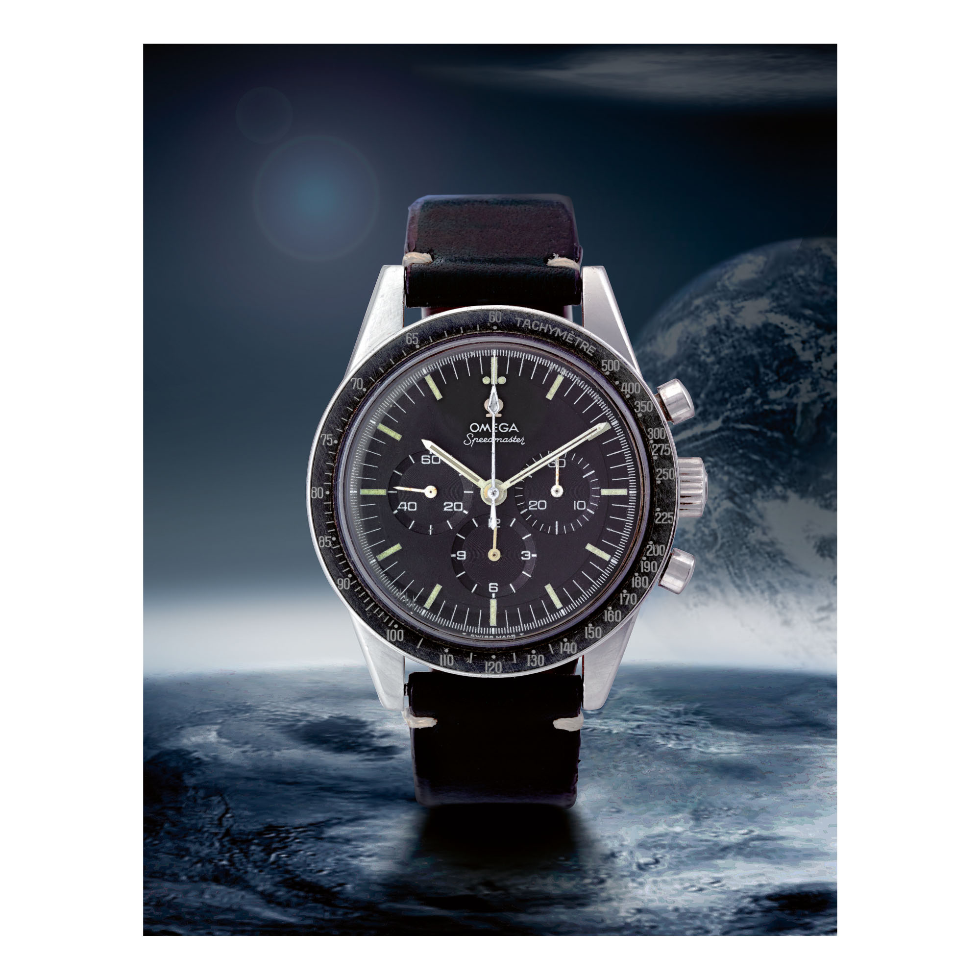 OMEGA | SPEEDMASTER REF 105.003-65 'FLIGHT QUALIFIED', A STAINLESS STEEL CHRONOGRAPH WRISTWATCH MADE IN 1966