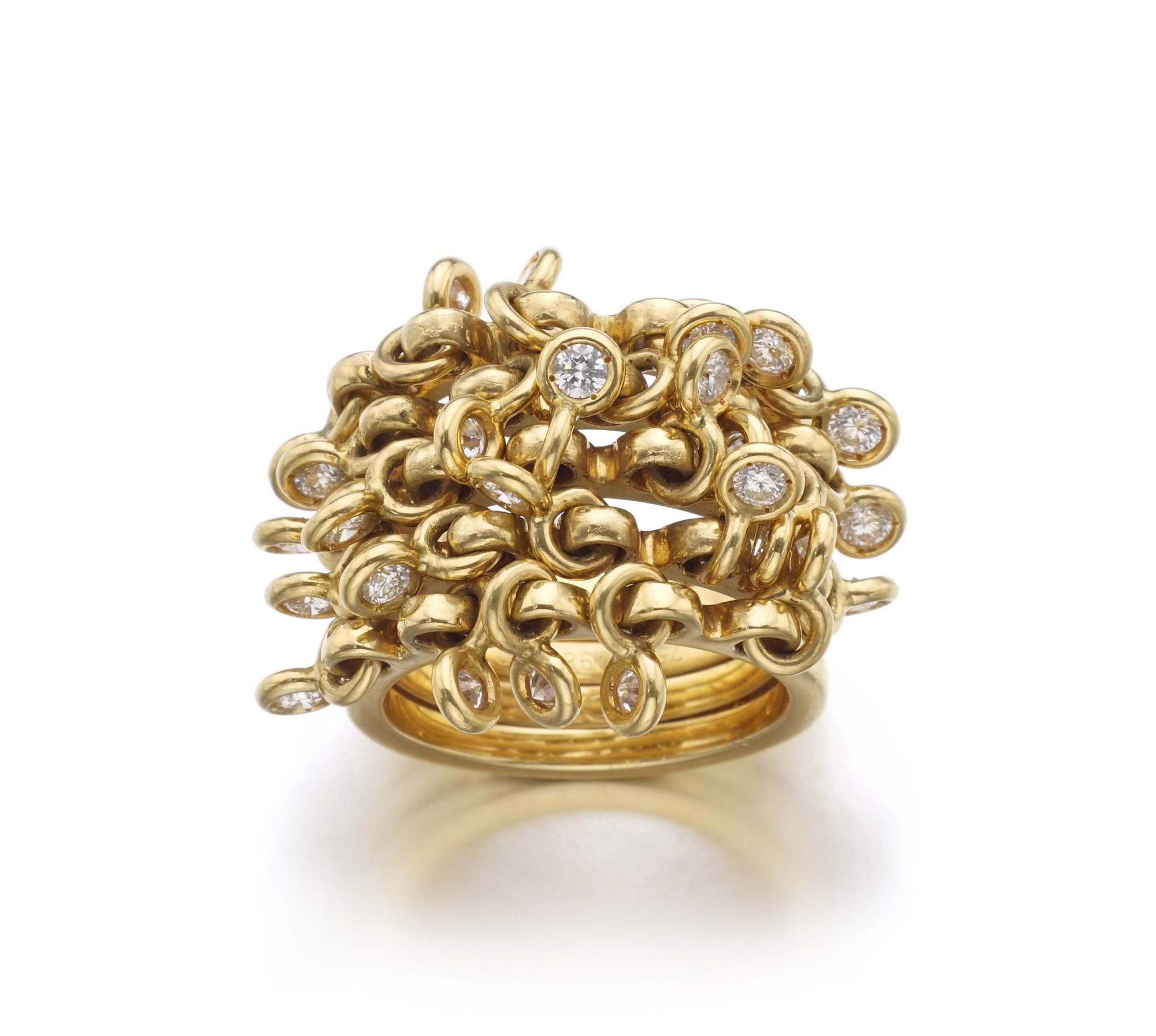 DIAMOND RING, 'COQUINE' | DIOR