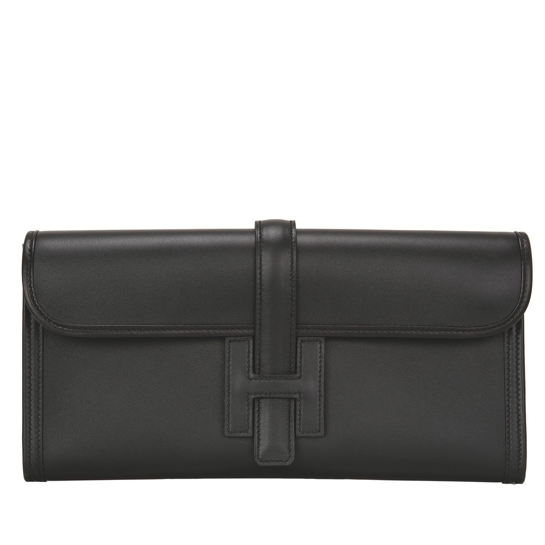 Hermès Black Jige Elan 29cm of Swift Leather