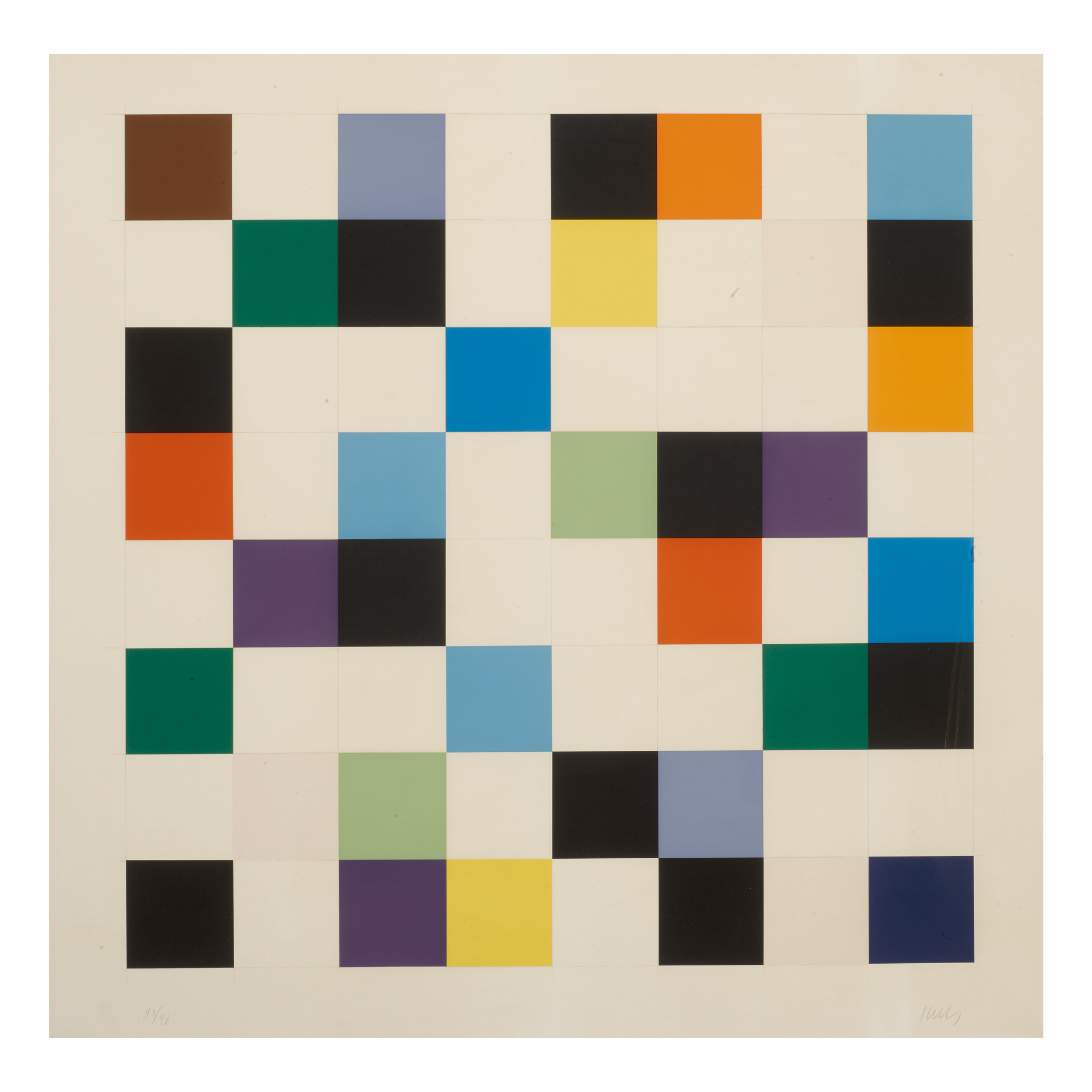 ELLSWORTH KELLY | COLORS ON A GRID (A. 140)