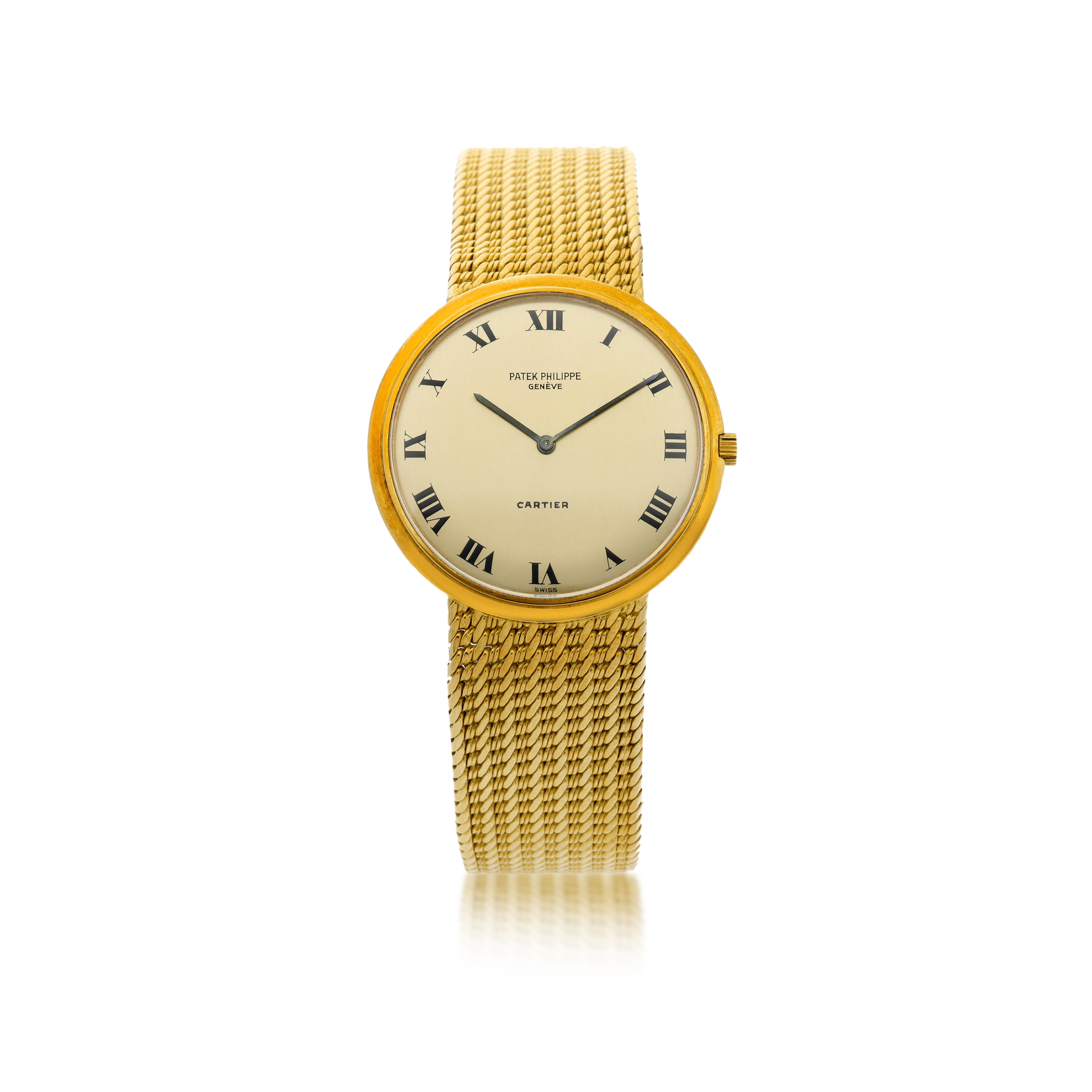View full screen - View 1 of Lot 36. REFERENCE 3520J   A YELLOW GOLD BRACELET WATCH, CIRCA 1970.
