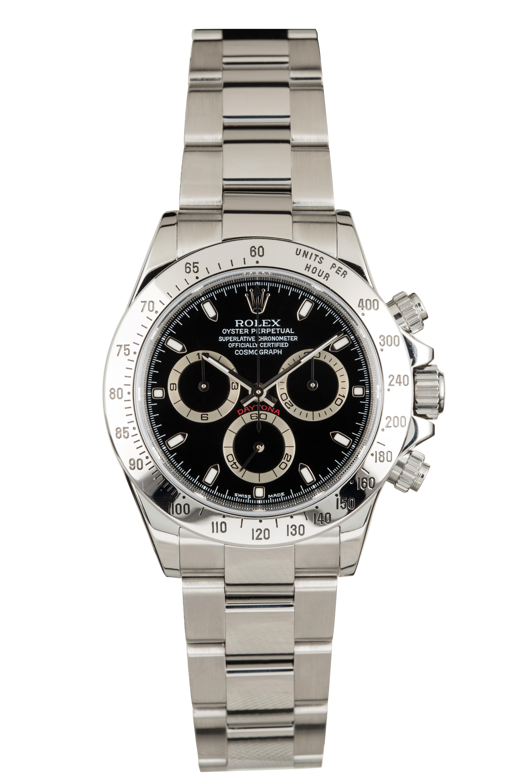 ROLEX    Daytona, Ref 116520   A Stainless Steel Chronograph Wristwatch with Bracelet Circa 2013