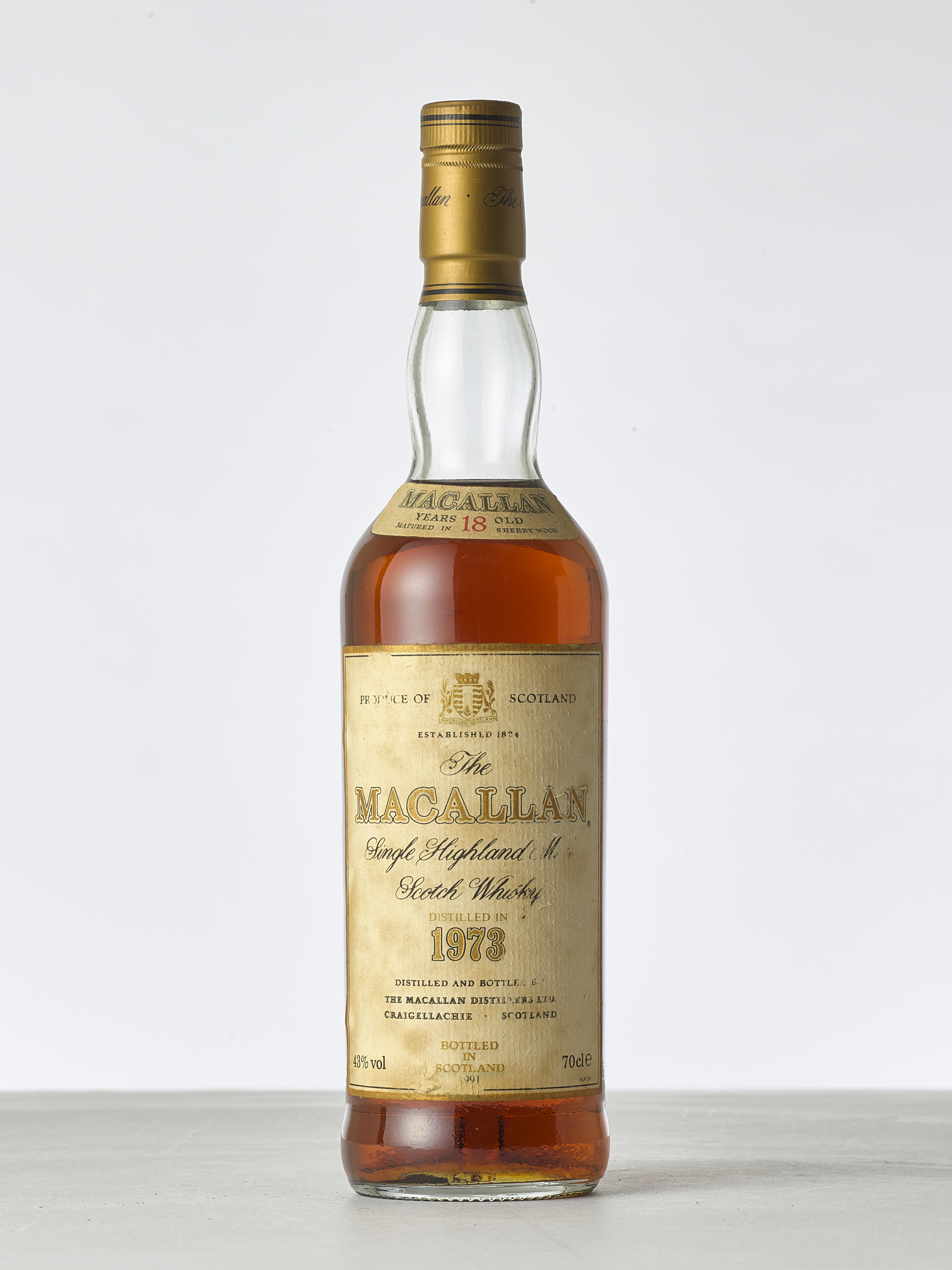 View 1 of Lot 2003. The Macallan 18 Year Old 43.0 abv 1973 (1 BT70).