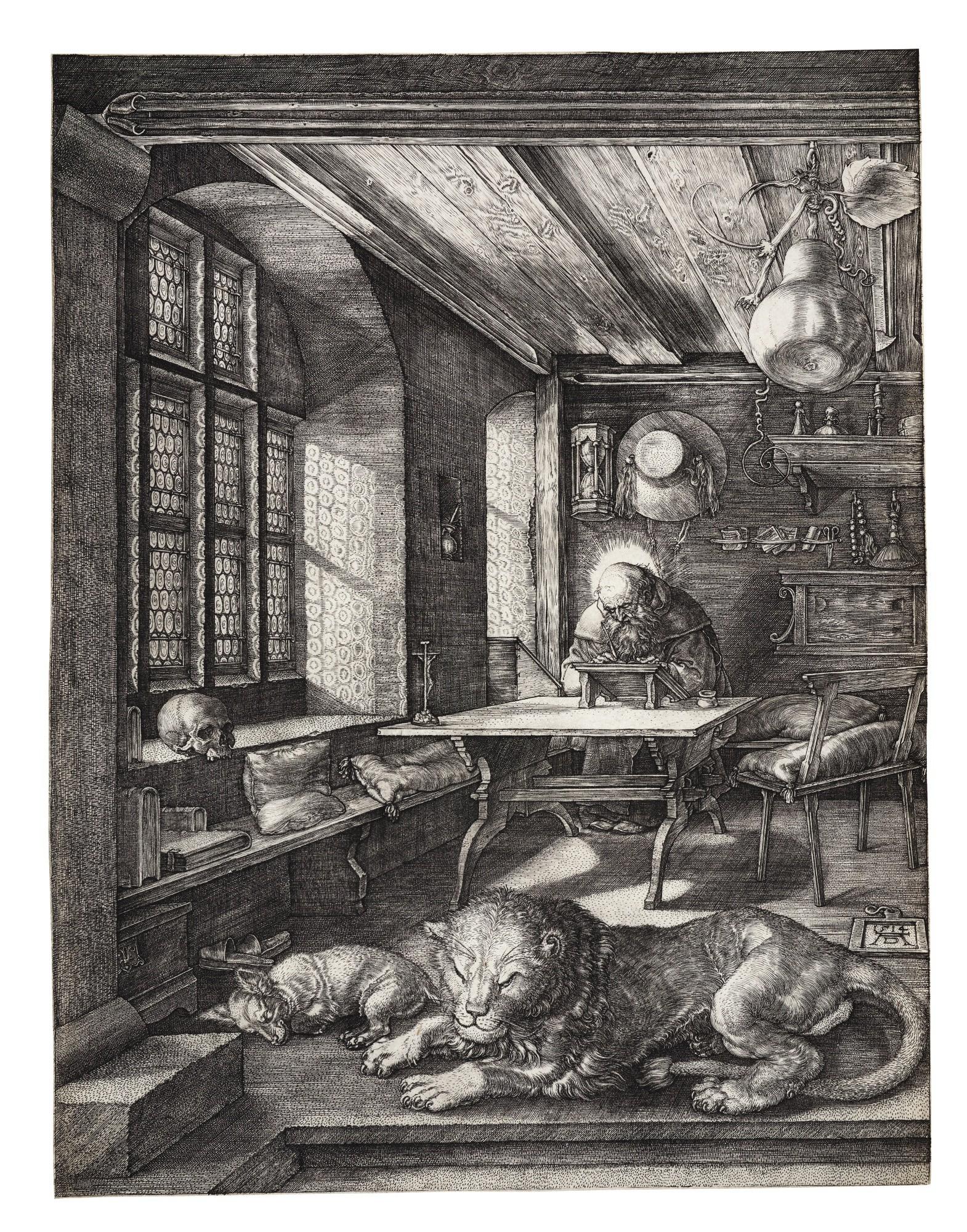 ALBRECHT DÜRER   SAINT JEROME IN HIS STUDY (B. 60; M., HOLL. 59)