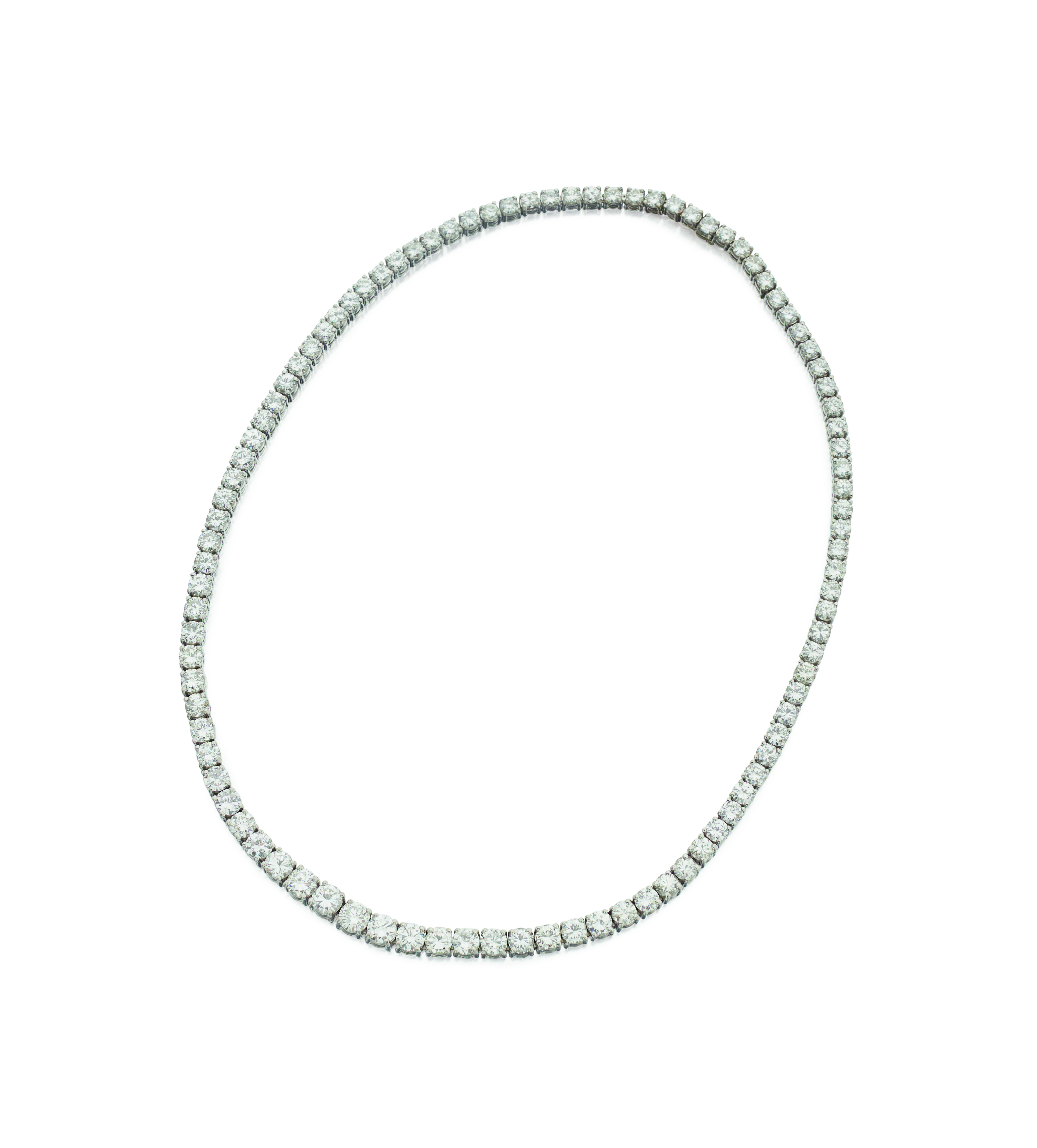 View full screen - View 1 of Lot 49. DIAMOND CHOKER-NECKLACE.