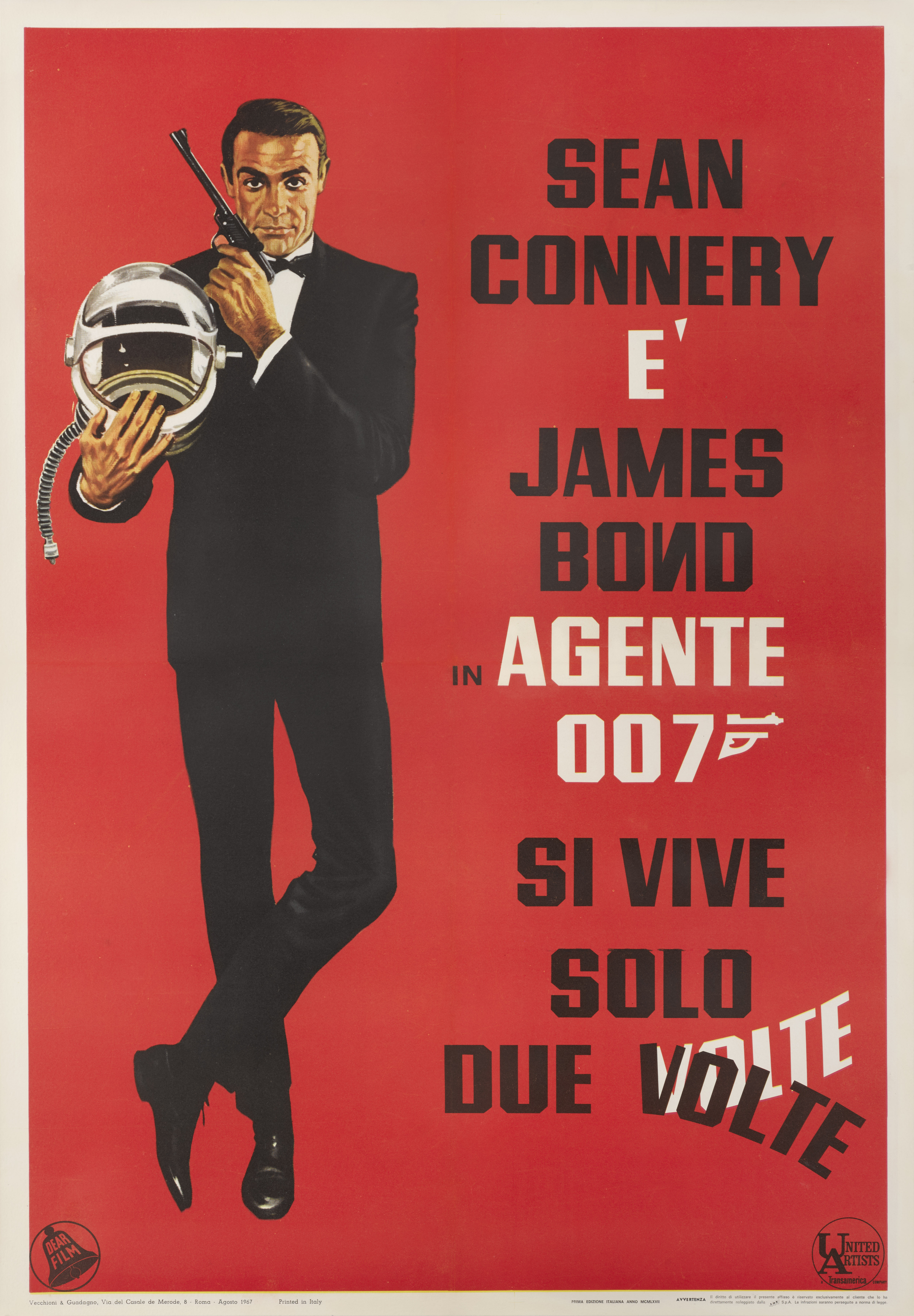 YOU ONLY LIVE TWICE / SI VIVE SOLO DUE VOLTE (1967) POSTER, ITALIAN