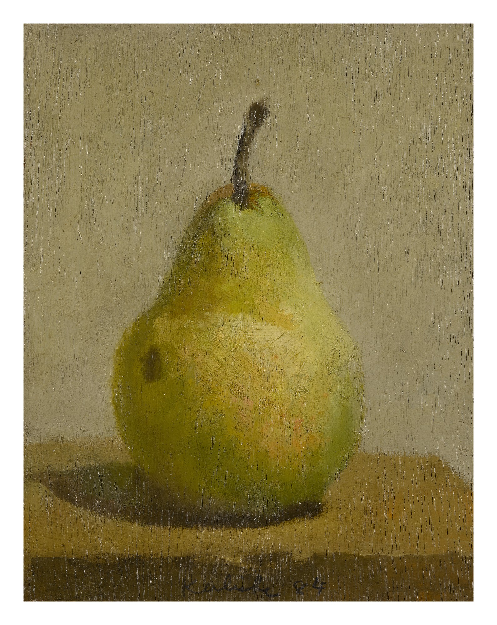 ROBERT M. KULICKE | SINGLE YELLOW-GREEN PEAR