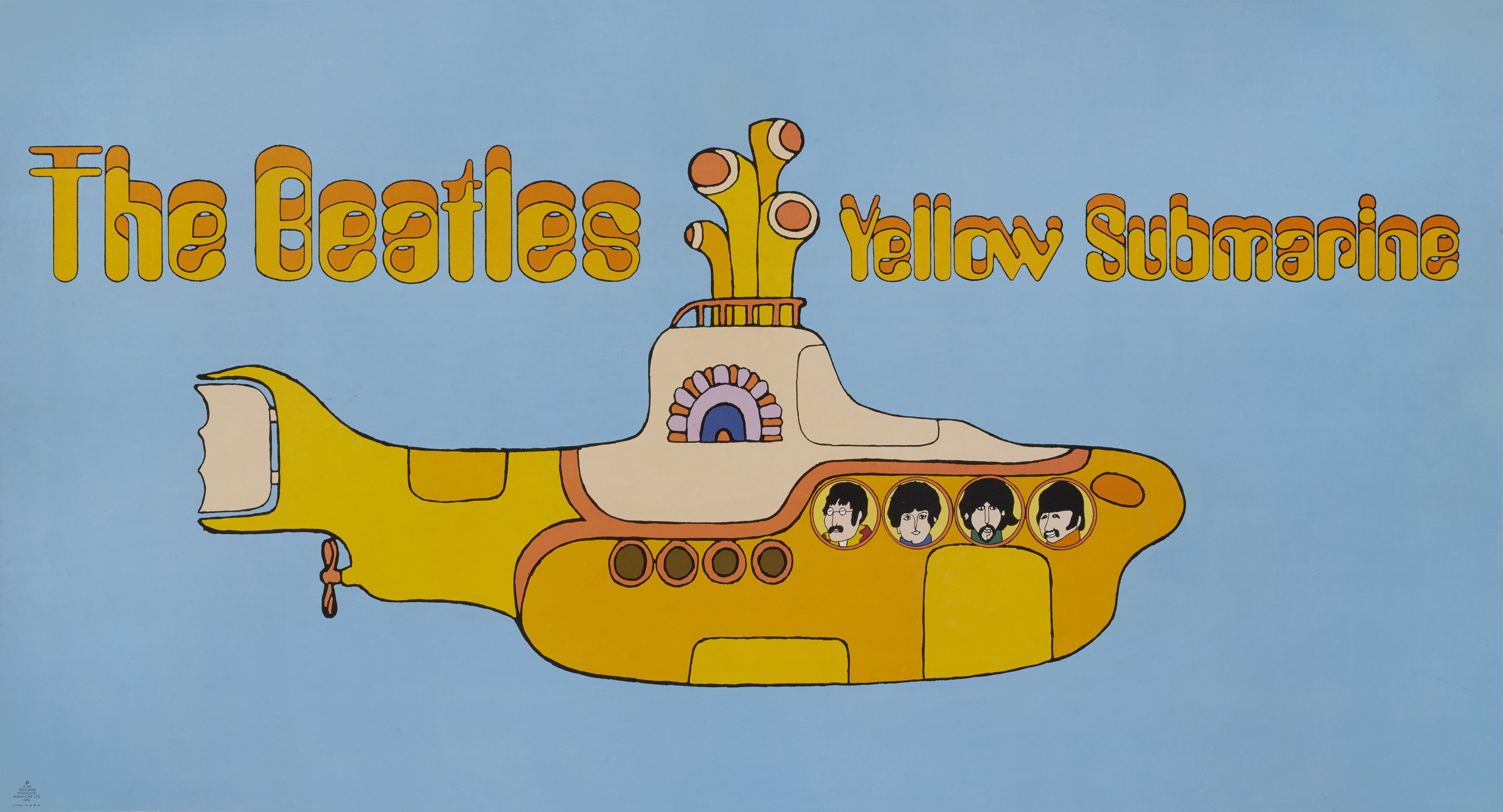View full screen - View 1 of Lot 186. Yellow Submarine (1968), US, Promotional banner.