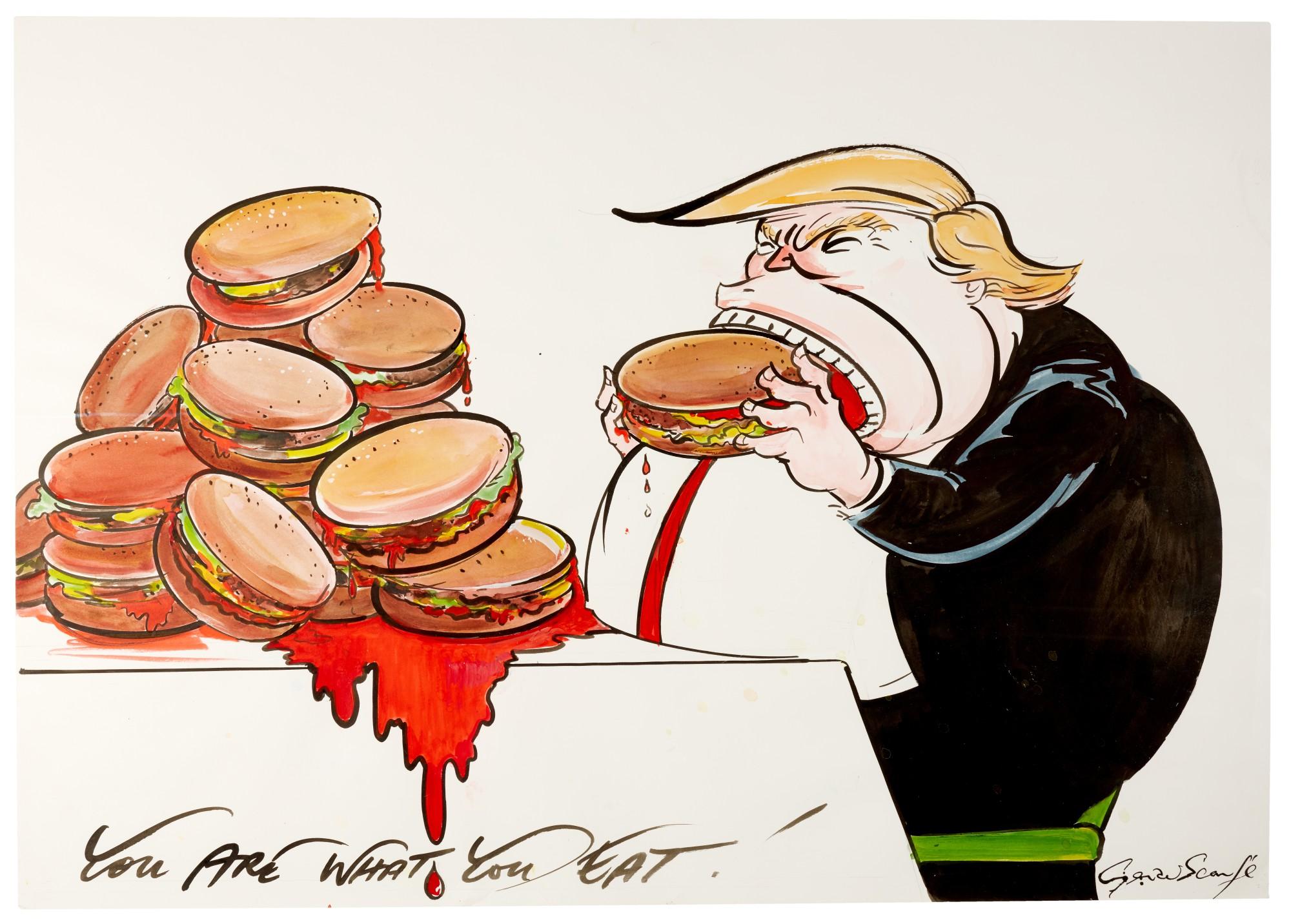 trumps fast food diet cartoons