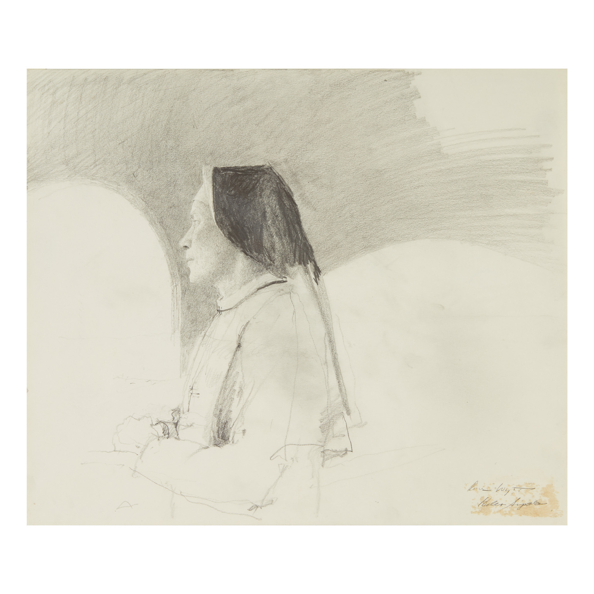 Andrew Wyeth Study For Traveling Alone American Art