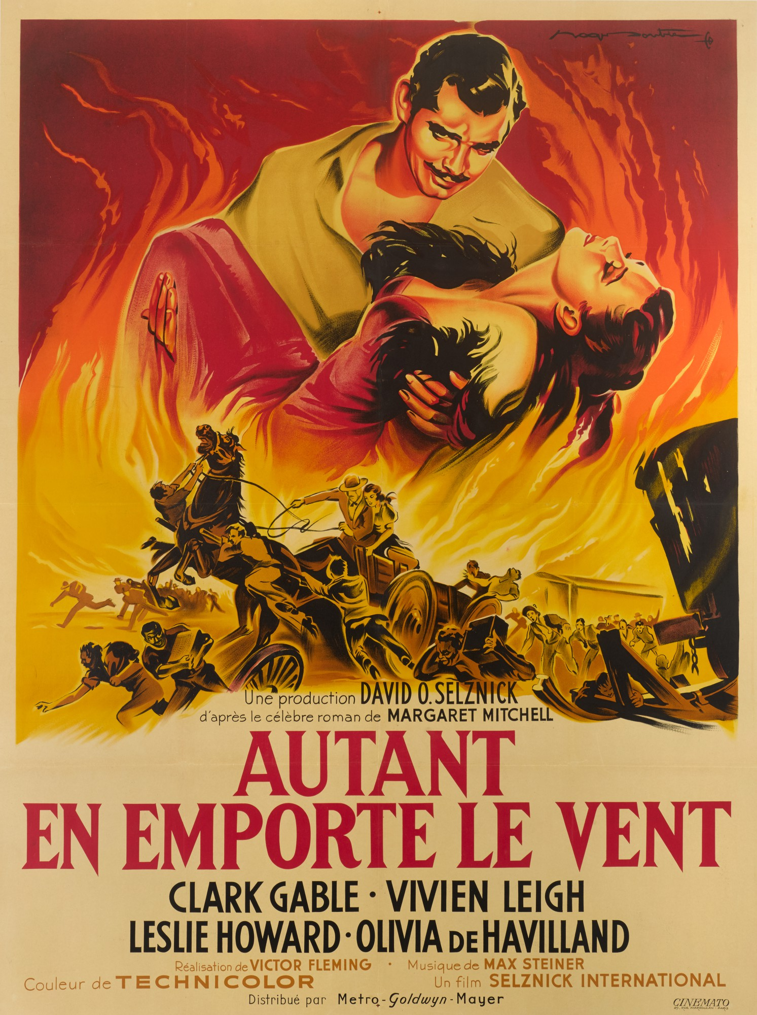 GONE WITH THE WIND (1939) POSTER, FRENCH