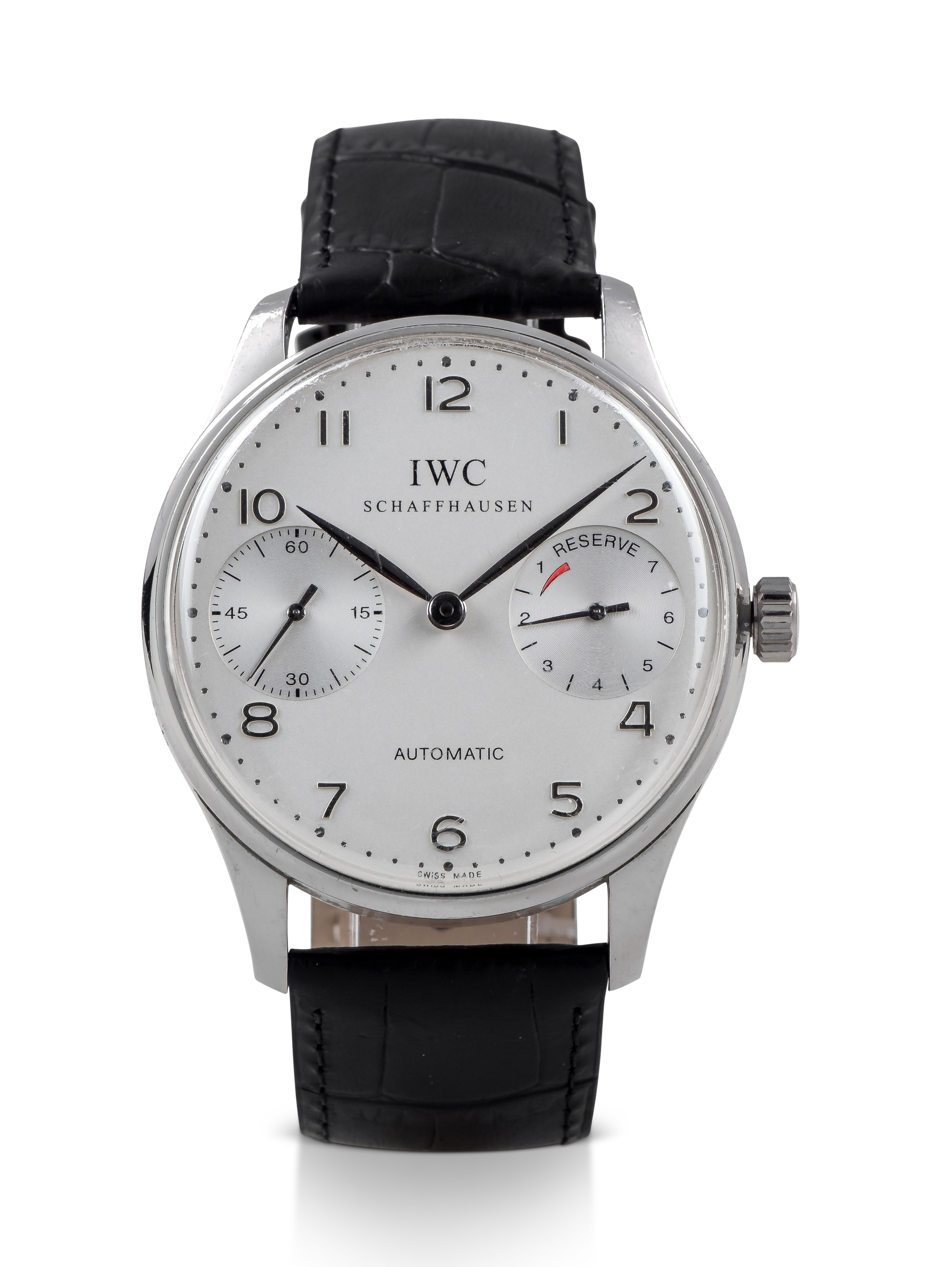 IWC | PORTUGIESER AUTOMATIK 2000, REF 5000 LIMITED EDITION PLATINUM WRISTWATCH WITH POWER RESERVE INDICATION CIRCA 2000