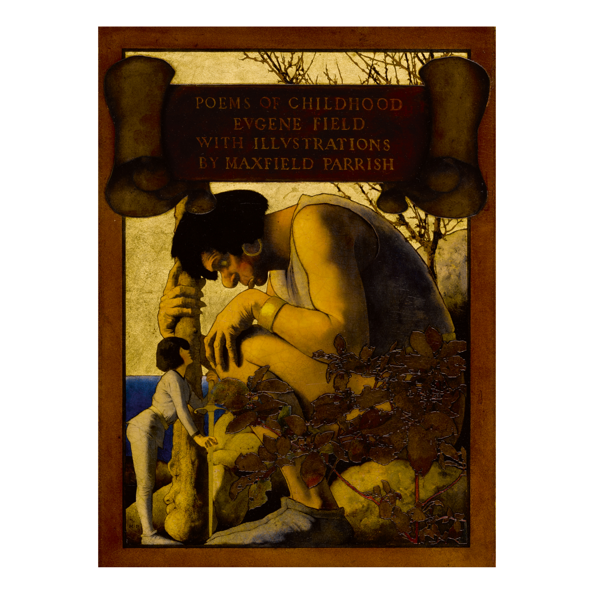 MAXFIELD PARRISH   GIANT WITH JACK AT HIS FEET (POEMS OF CHILDHOOD)
