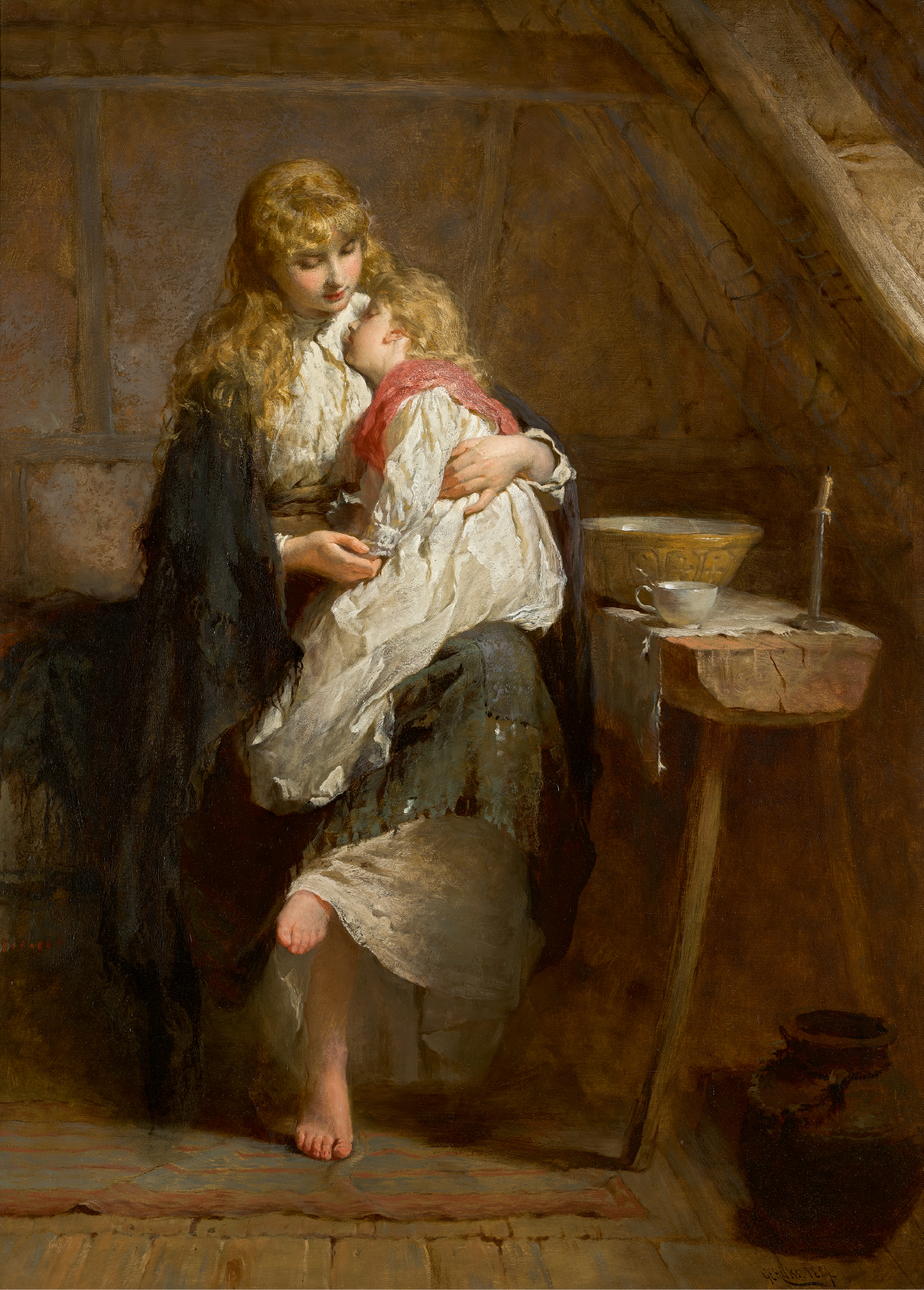 GEORGE ELGAR HICKS, R.B.A. | Orphans