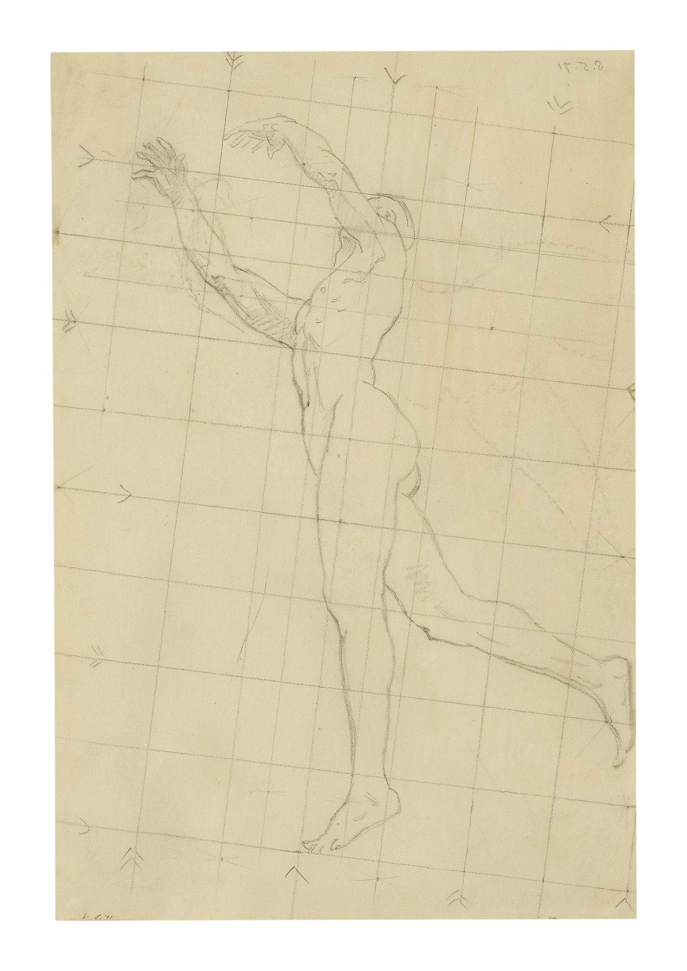 JOHN SINGER SARGENT | MALE NUDE (MURAL STUDY)