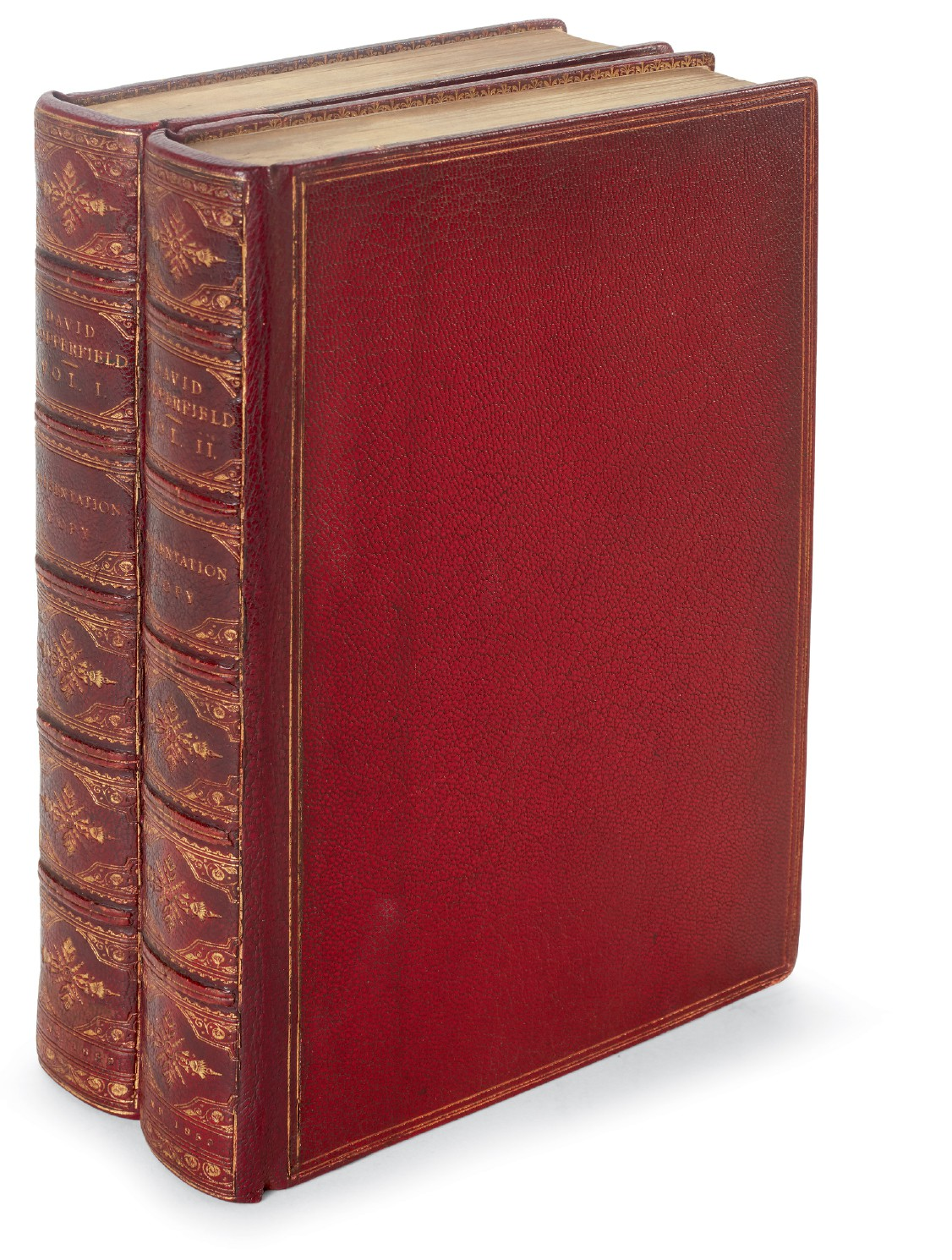 Dickens, David Copperfield, 1859, presentation copy inscribed to Reverend Goldhawk, with letter