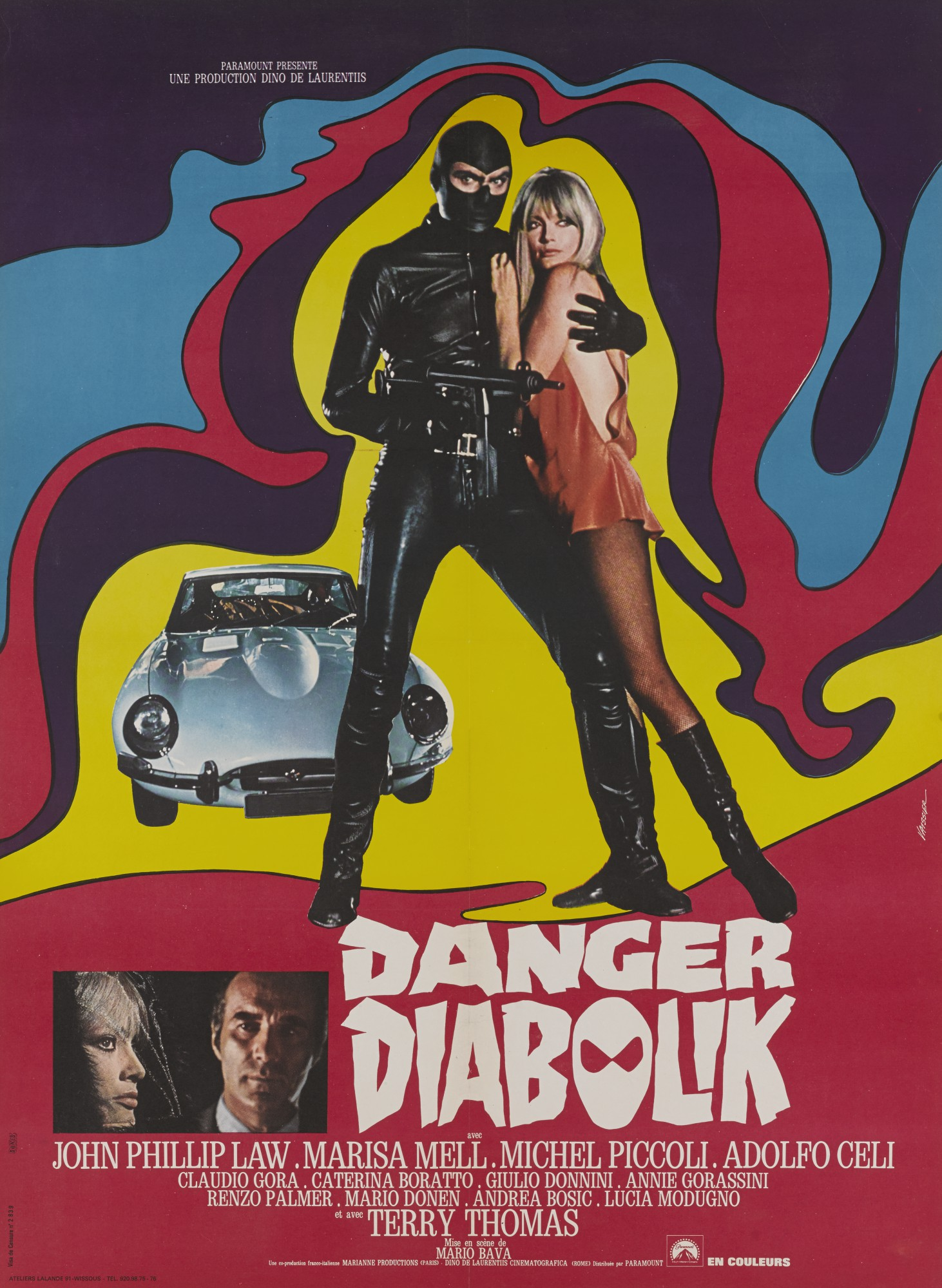 DIABOLIK/DANGER: DIABOLIK (1967) POSTER, FRENCH
