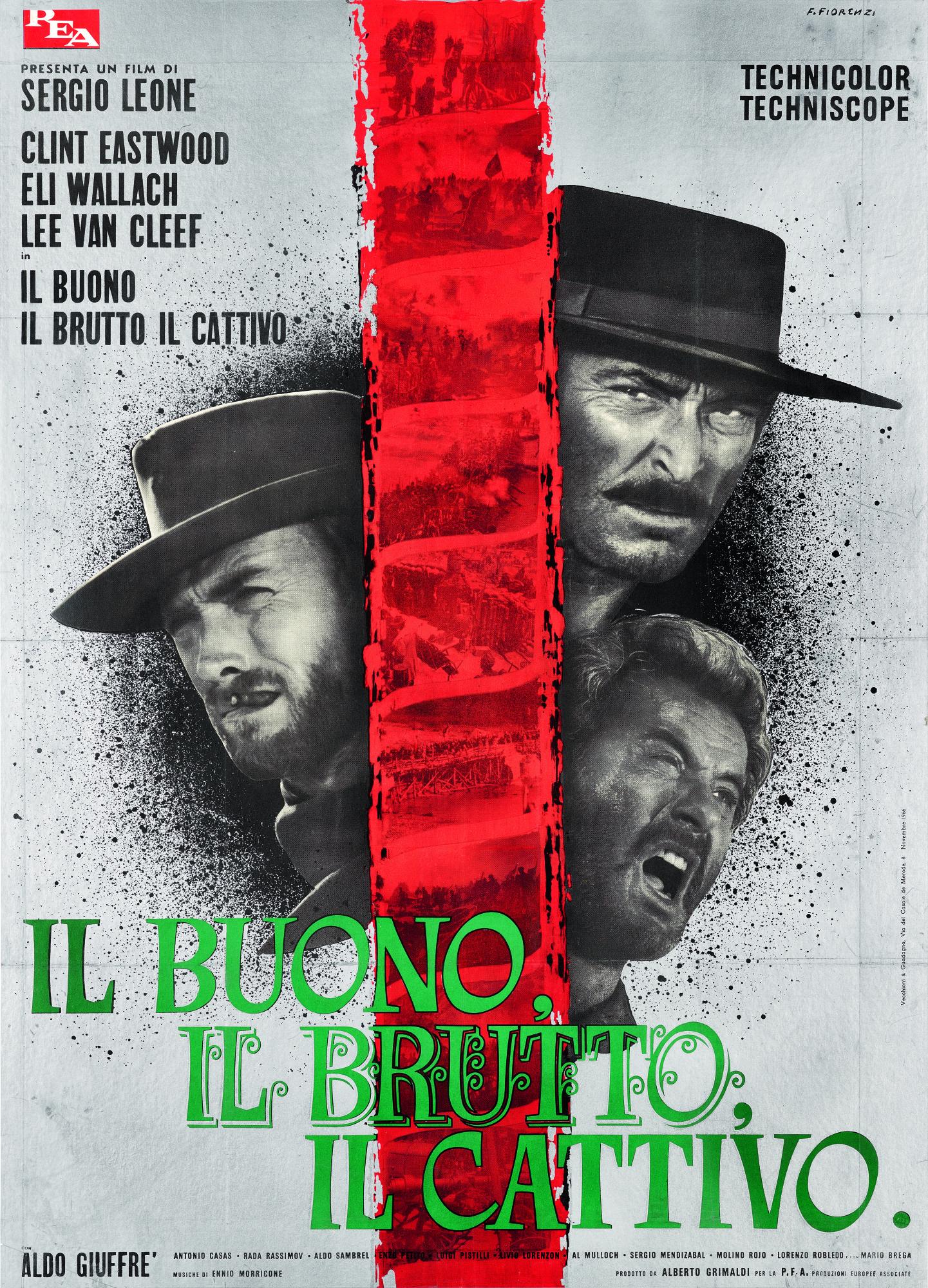 'THE GOOD, THE BAD AND THE UGLY/IL BUONO IL BRUTTO IL CATTIVO' (1966) POSTER, ITALIAN