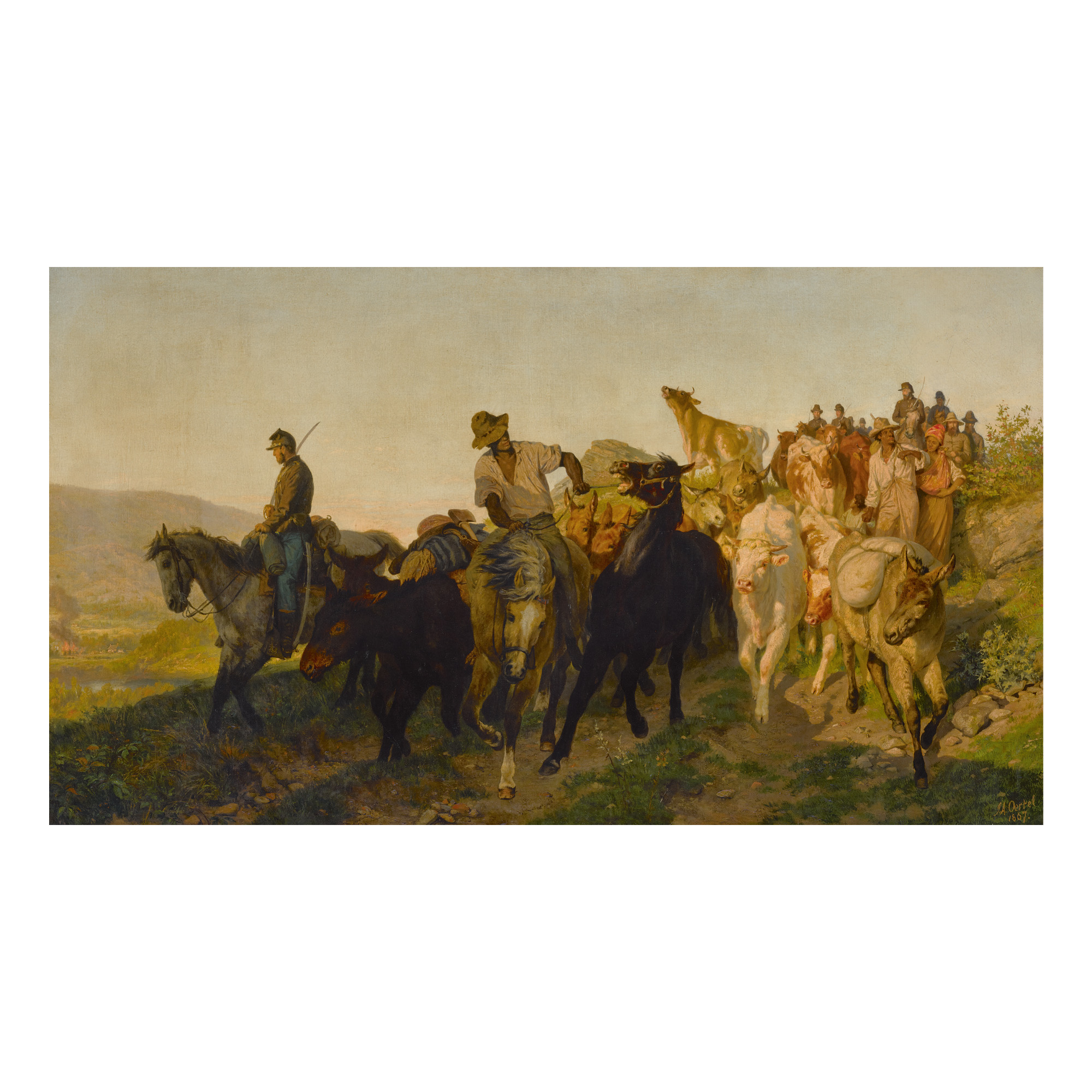 JOHANNES ADAM SIMON OERTEL | UNTITLED (CAVALRY ESCORT)