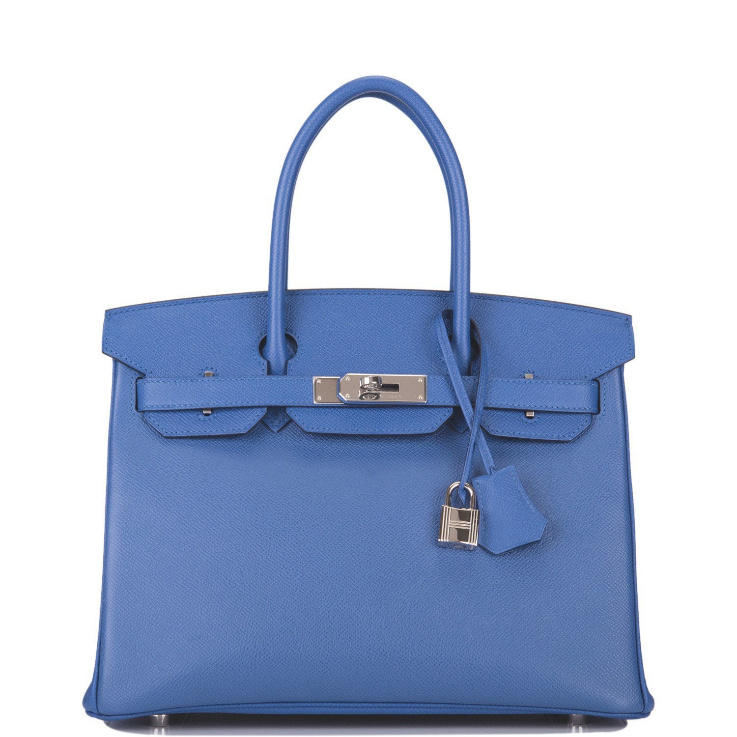 Hermès Bleu Brighton Birkin 30cm of Epsom Leather with Palladium Hardware