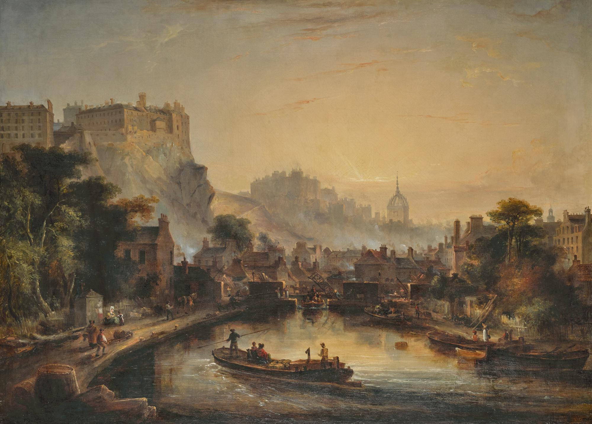 JAMES FRANCIS WILLIAMS, R.S.A. | VIEW OF EDINBURGH FROM THE UNION CANAL