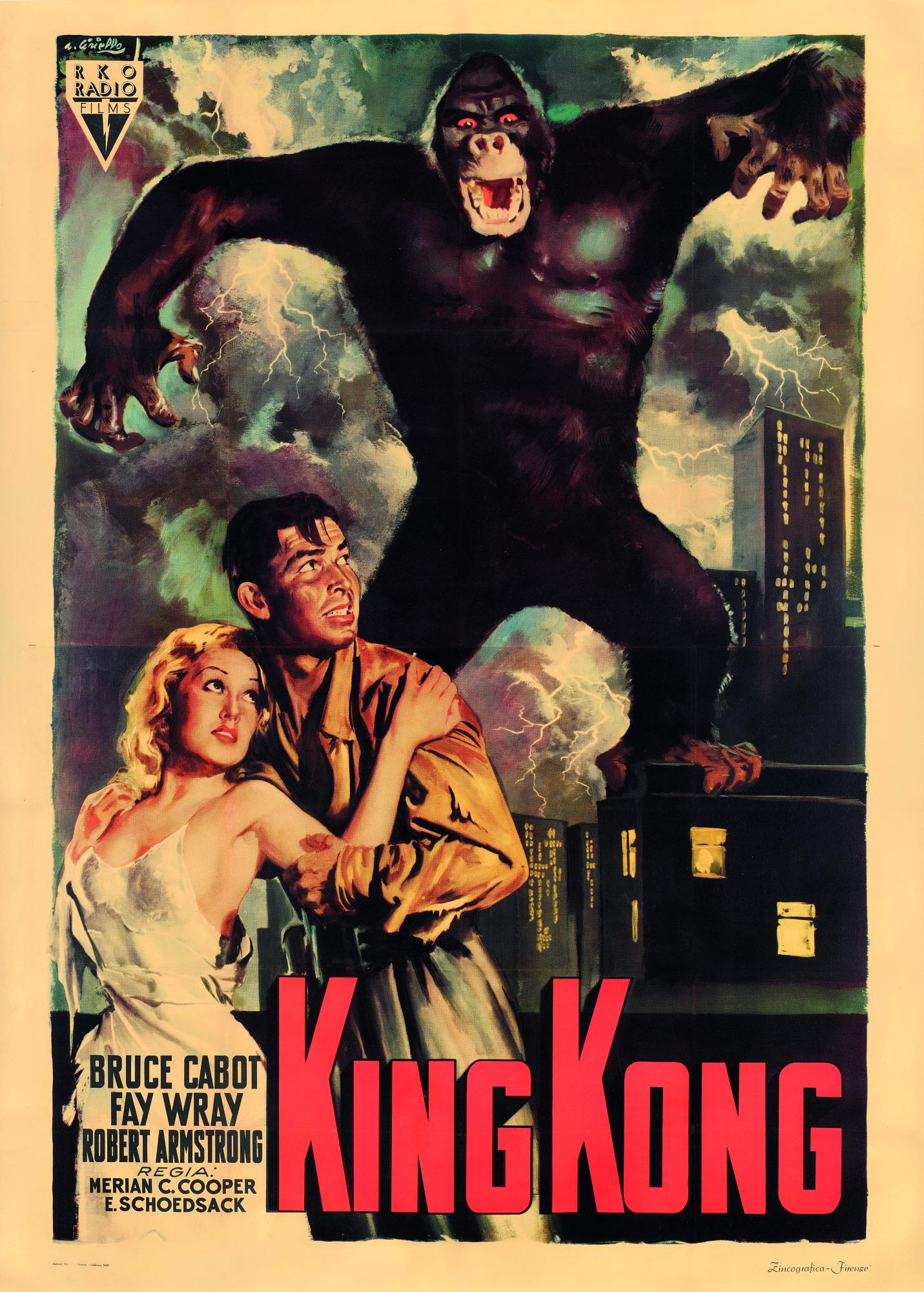 King Kong 1933 Poster Italian Original Film Posters