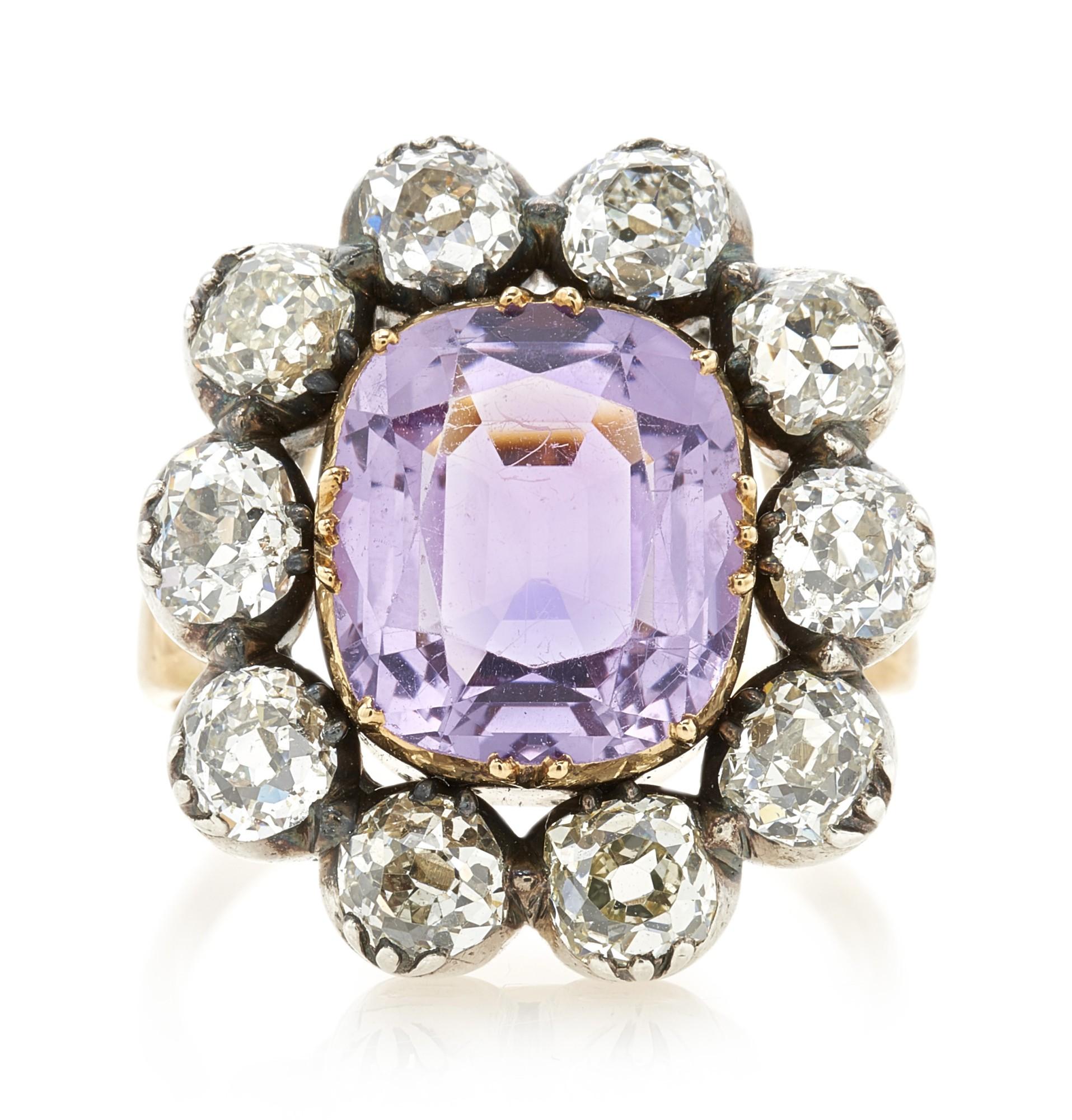 AMETHYST AND DIAMOND RING (ANELLO CON AMETISTA E DIAMANTI)