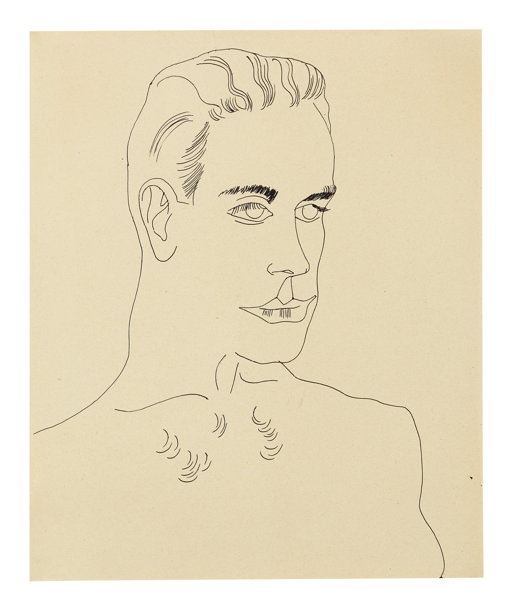 ANDY WARHOL   UNTITLED (UNIDENTIFIED MALE)