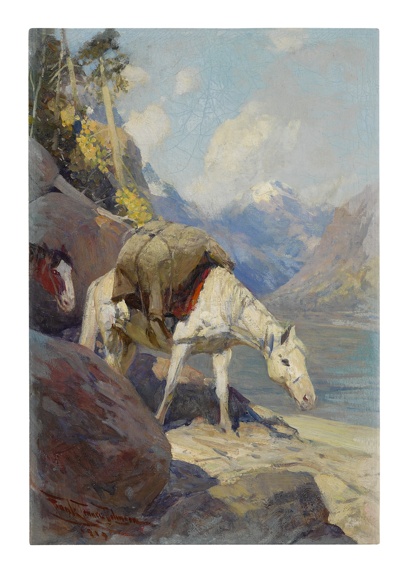 FRANK TENNEY JOHNSON | THE OLD GRAY MARE