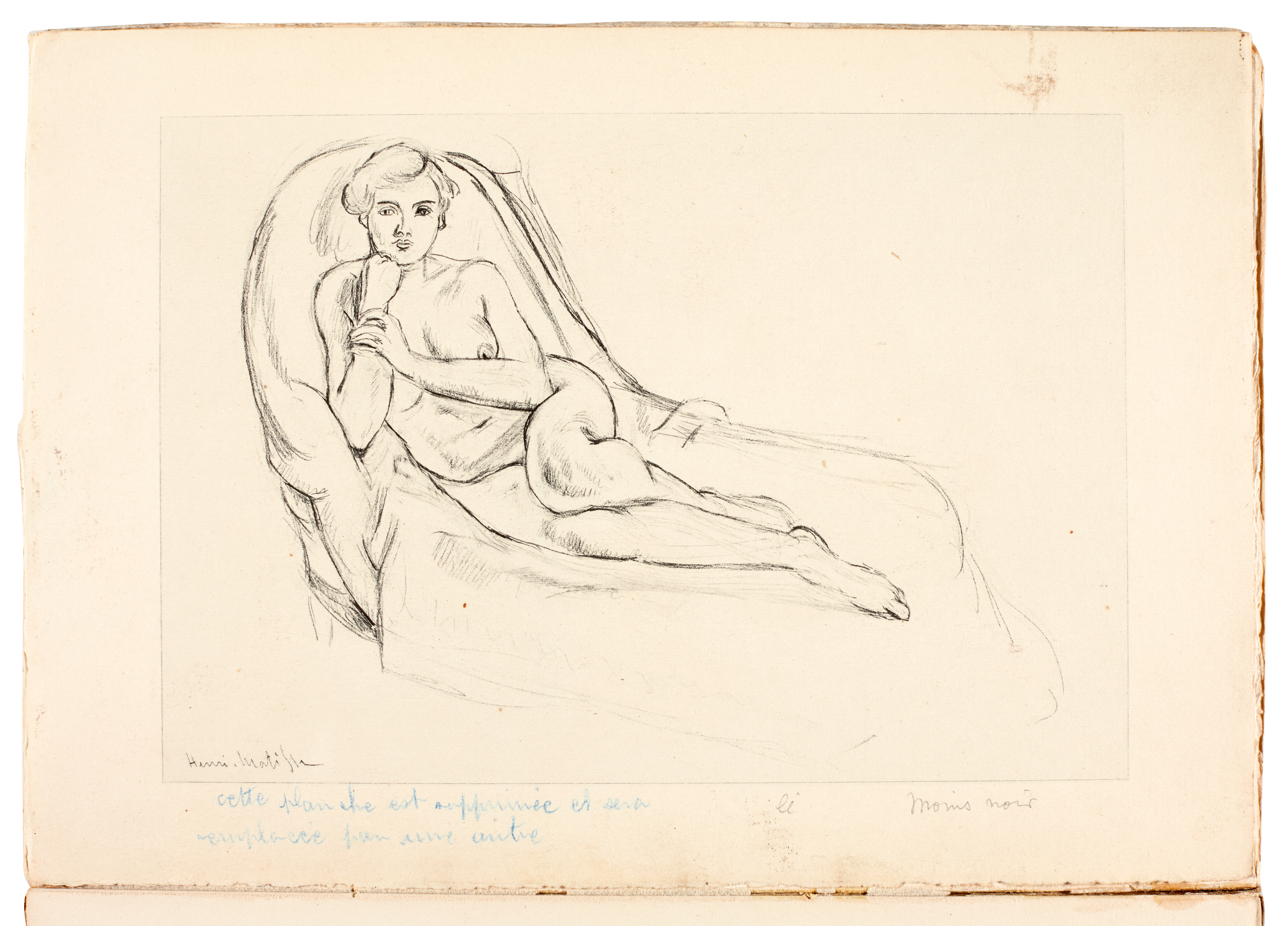 View full screen - View 1 of Lot 136. Matisse, Cinquante dessins, Paris, 1920, 2 copies, original wrappers, one copy inscribed to Jacquemin.