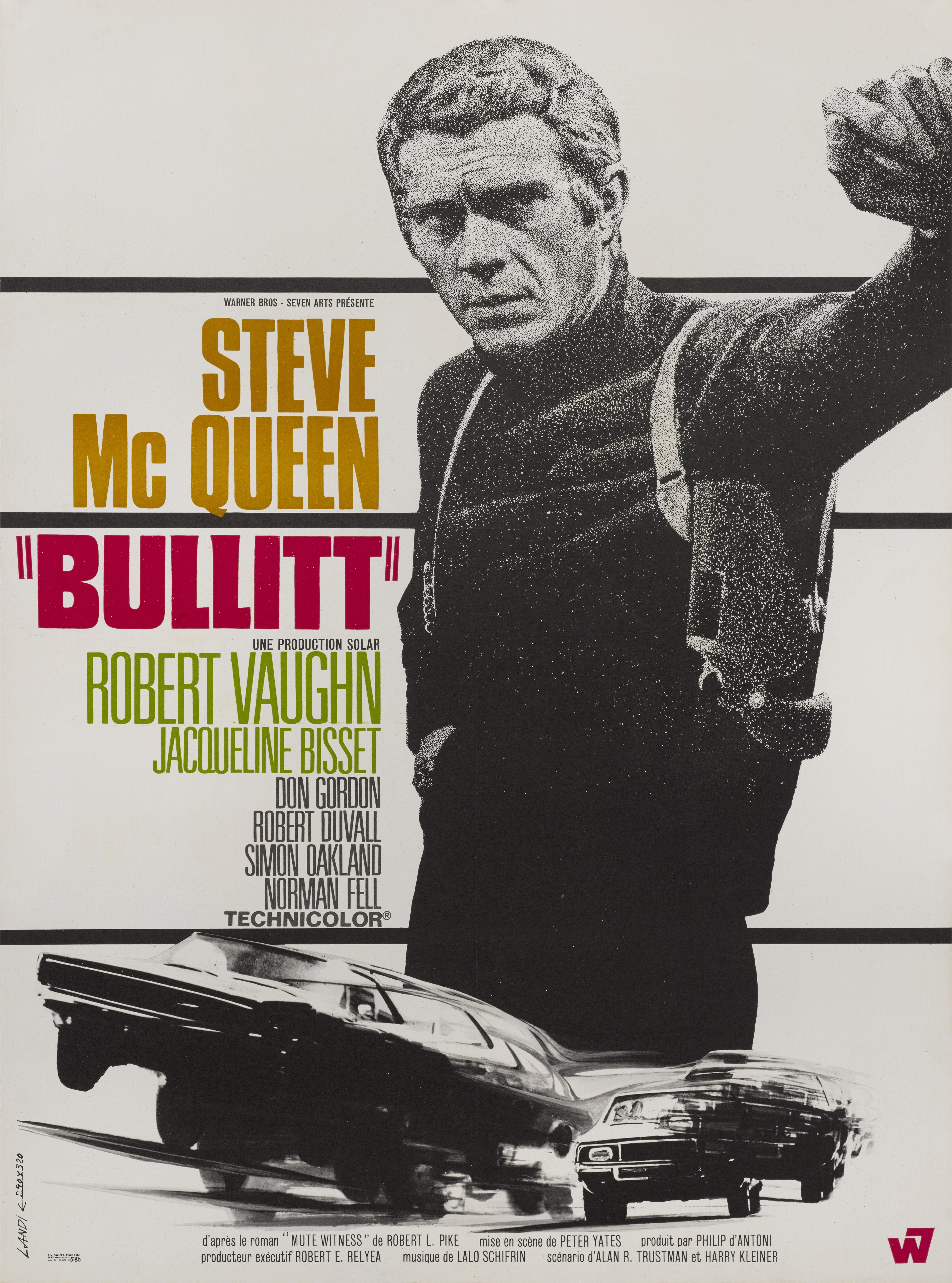 View full screen - View 1 of Lot 15. Bullitt (1968) Poster, French   .