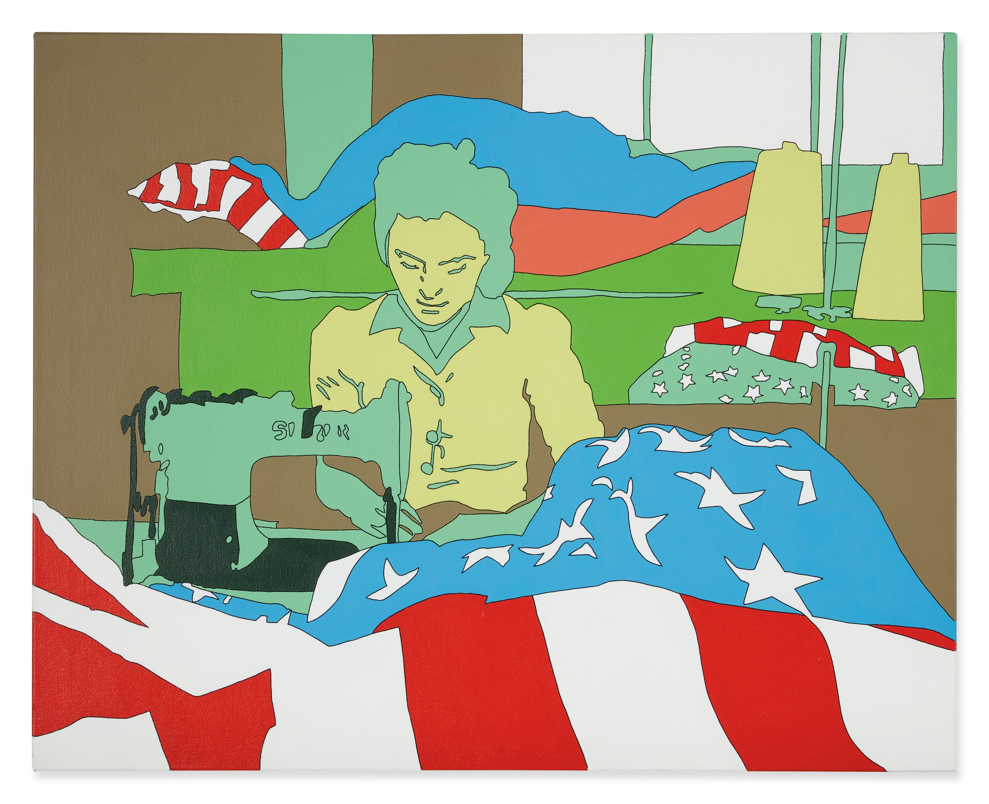LISA RUYTER | MARJORY COLLINS 'VERONA, NEW JERSEY. SEWING THE EDGE OF AN AMERICAN   FLAG AT THE ANNIN FLAG COMPANY'