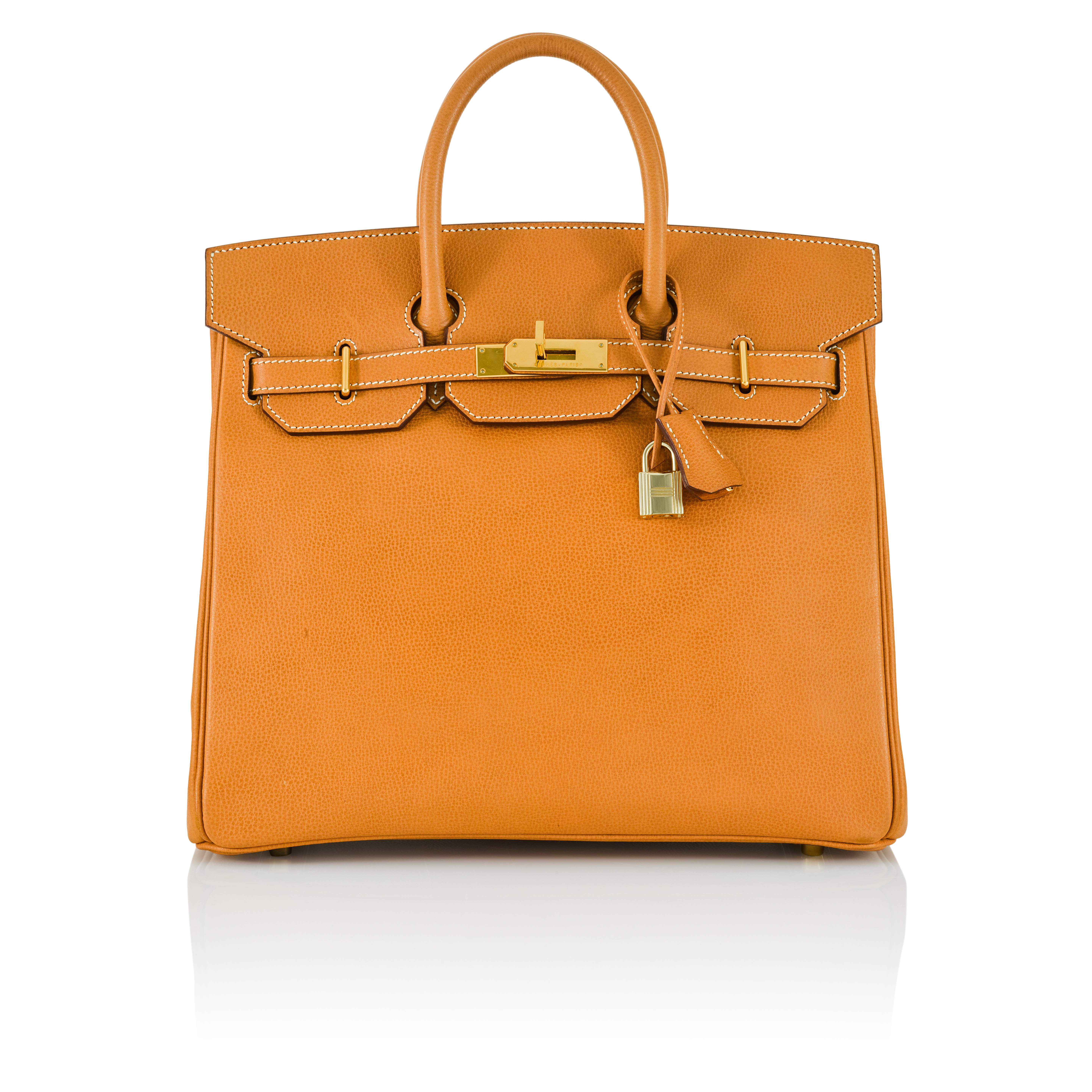 View full screen - View 1 of Lot 59. Gold HAC Birkin 32cm in Ardennes Leather with Gold Hardware, 2004.