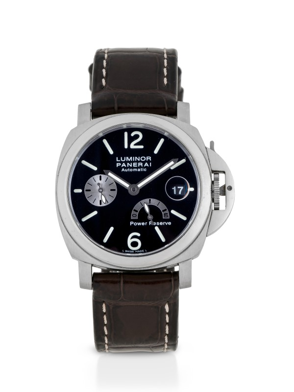 PANERAI | LUMINOR LIMITED EDITION STAINLESS STEEL WRISTWATCH WITH DATE AND POWER RESERVE INDICATION CIRCA 2002