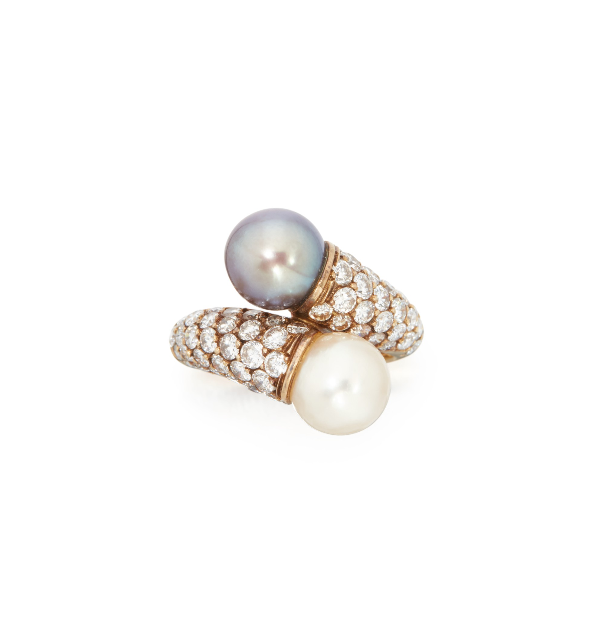CULTURED PEARL AND DIAMOND RING, VAN CLEEF & ARPELS, FRANCE