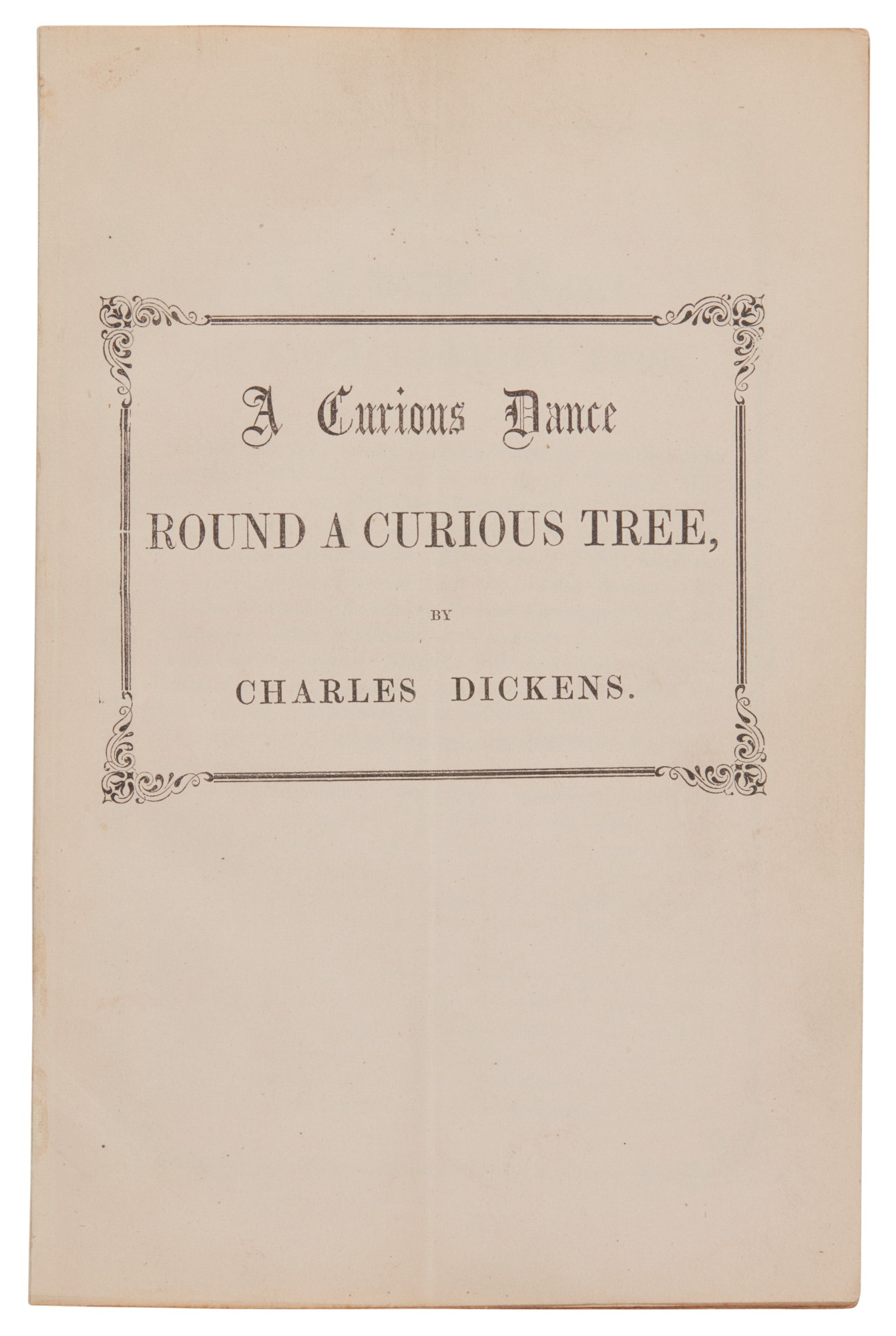 Dickens, A Curious Dance round a Curious Tree, [1860], first edition, second issue, with original envelope