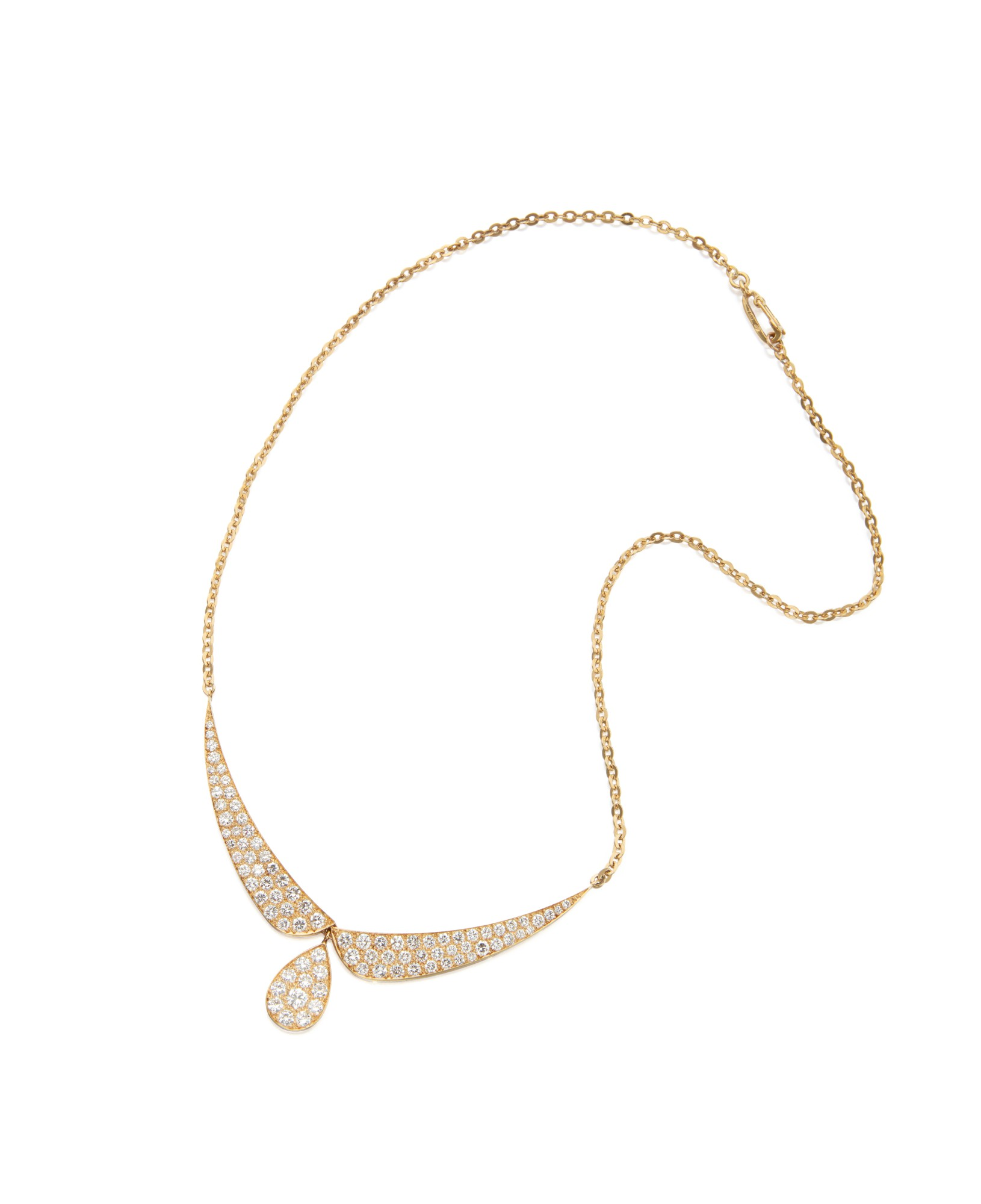 GOLD AND DIAMOND NECKLACE, VAN CLEEF & ARPELS, FRANCE