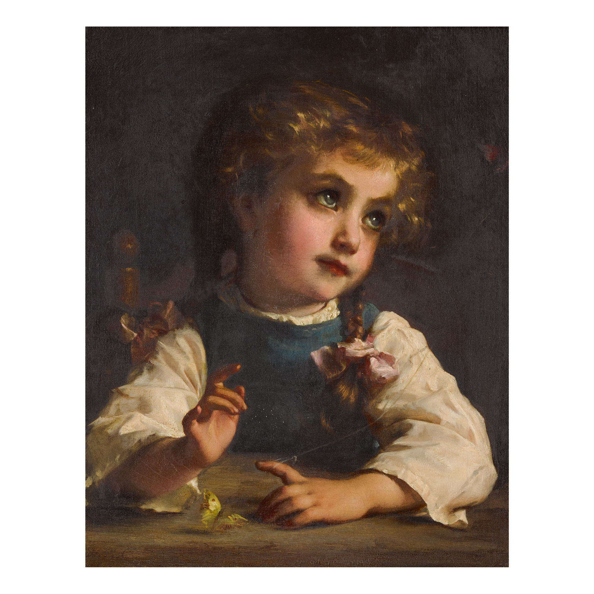 ETIENNE ADOLPHE PIOT   PLAYING WITH BUTTERFLIES