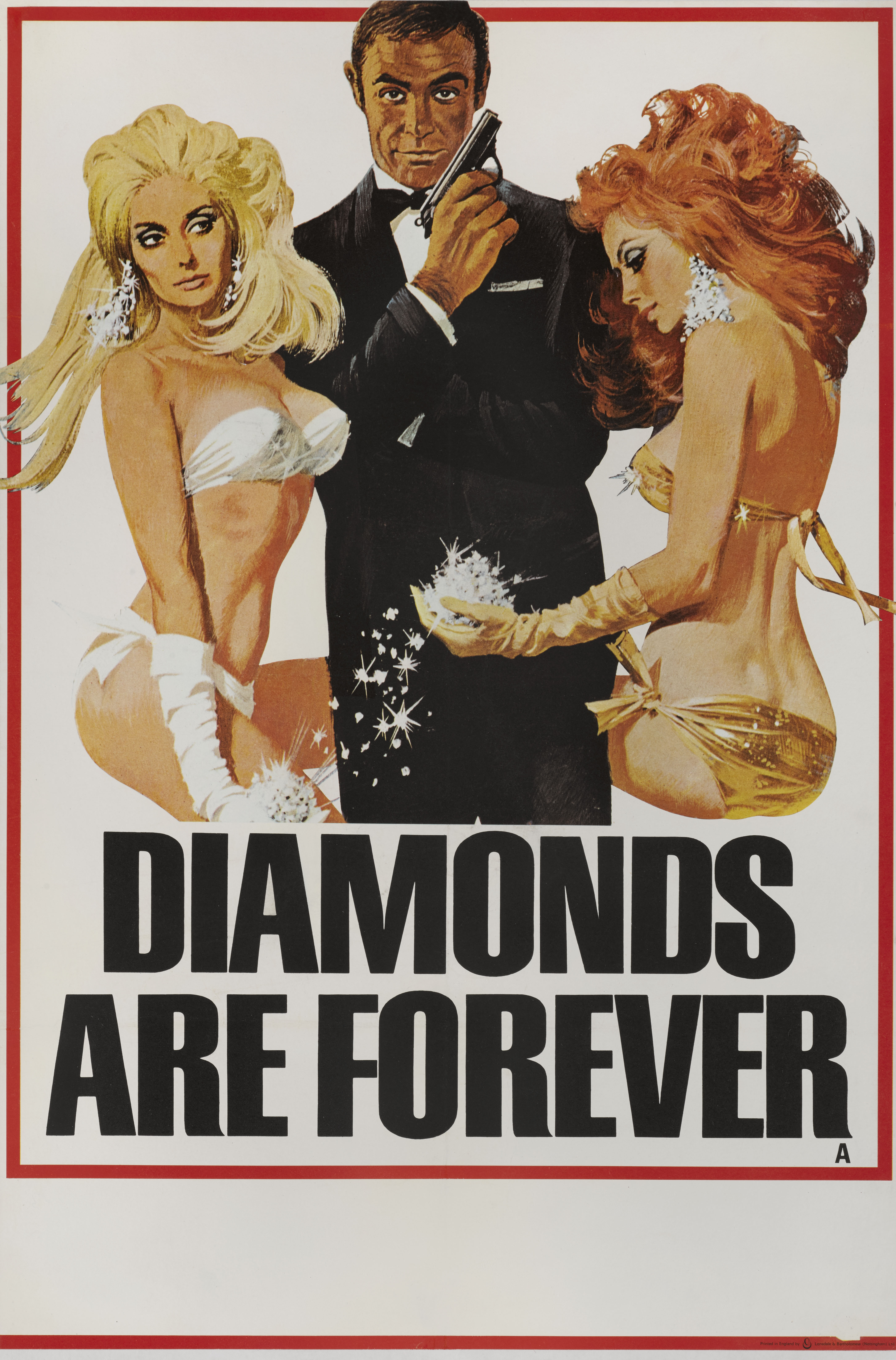 DIAMONDS ARE FOREVER (1971) POSTER, BRITISH