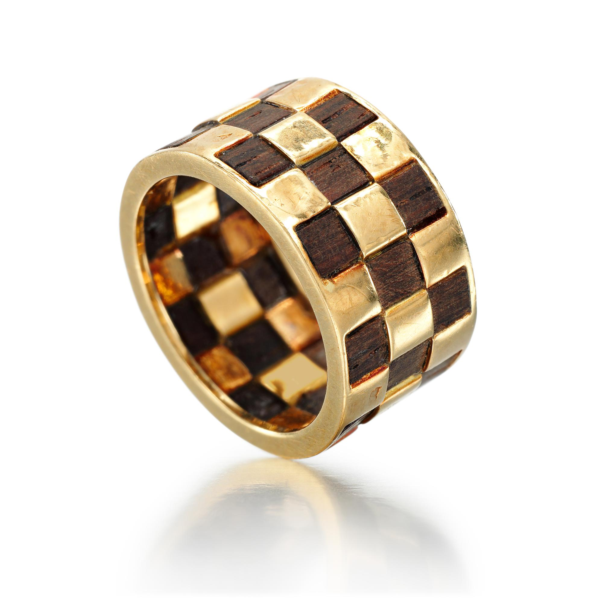 WOOD AND GOLD RING | VAN CLEEF & ARPELS, 1970S